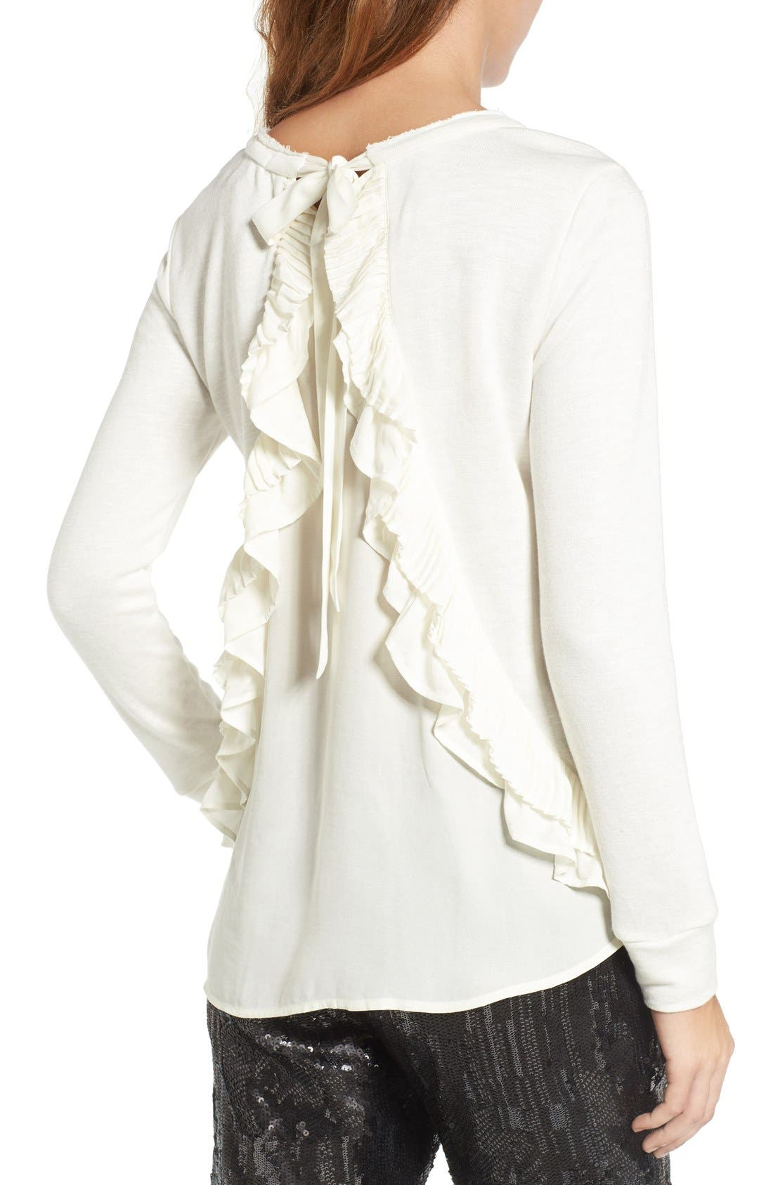 Alternate Image 2  - Chelsea28 Ruffle Back Sweatshirt