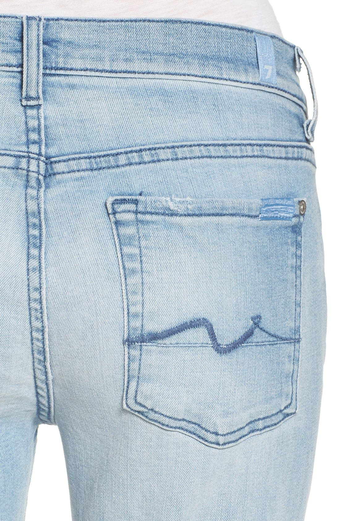 Alternate Image 4  - 7 For All Mankind® 'Josefina' Boyfriend Jeans (Bright Bristol 2)