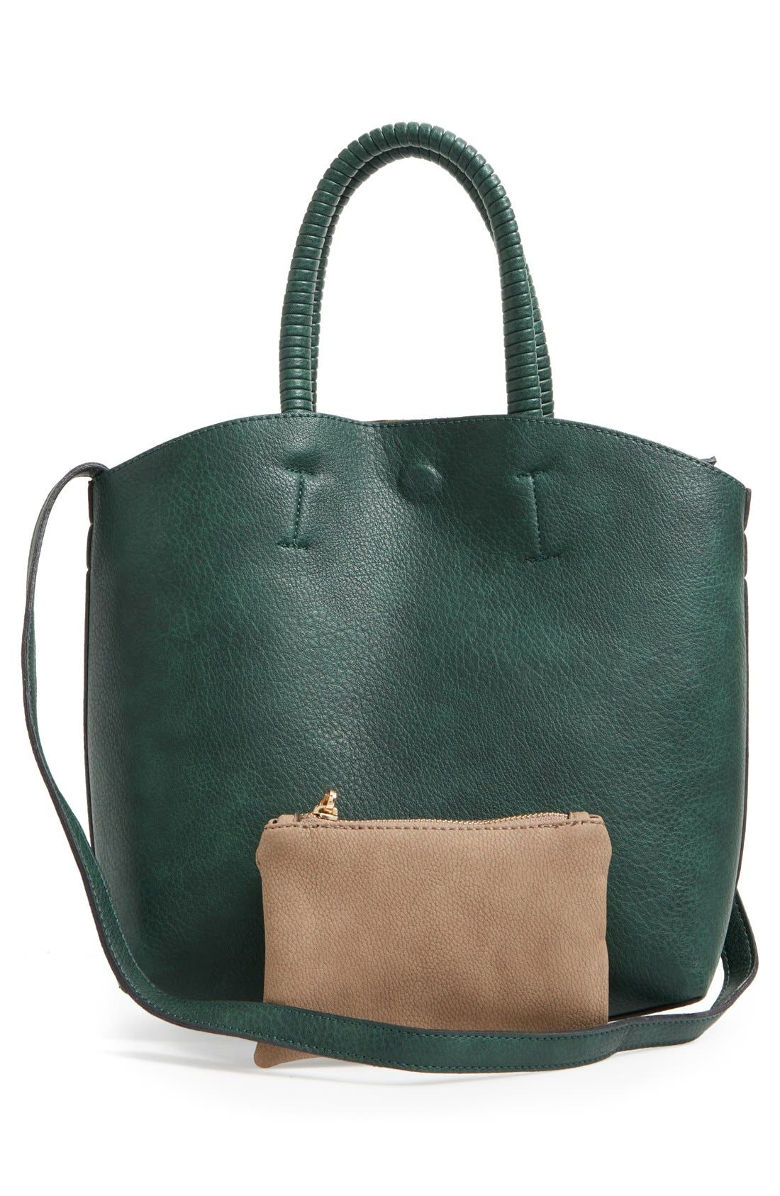 Alternate Image 3  - Street Level Faux Leather Dome Tote