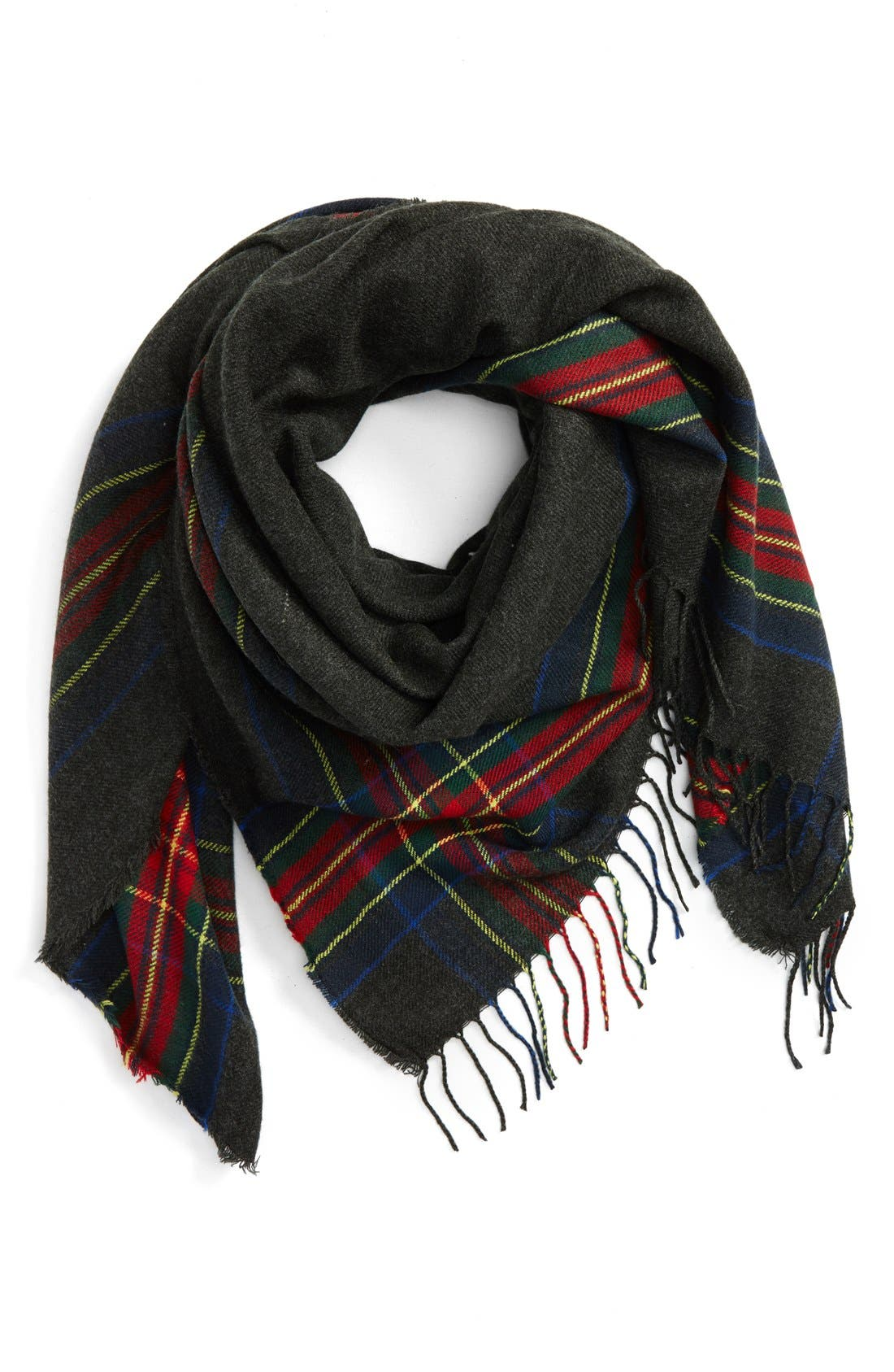 Main Image - BP. Heritage Plaid Square Scarf