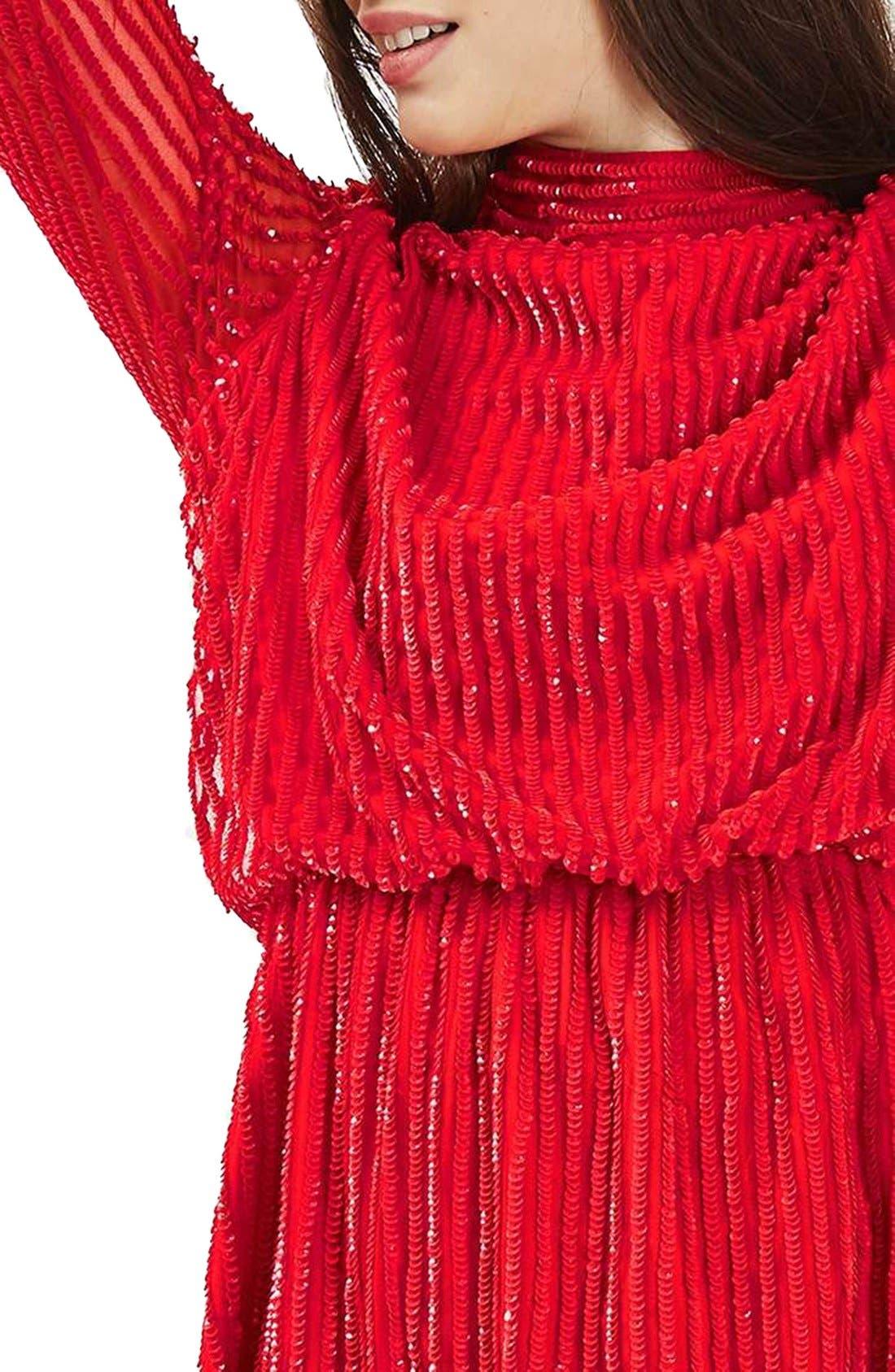 Alternate Image 6  - Topshop Sequin Blouson Dress