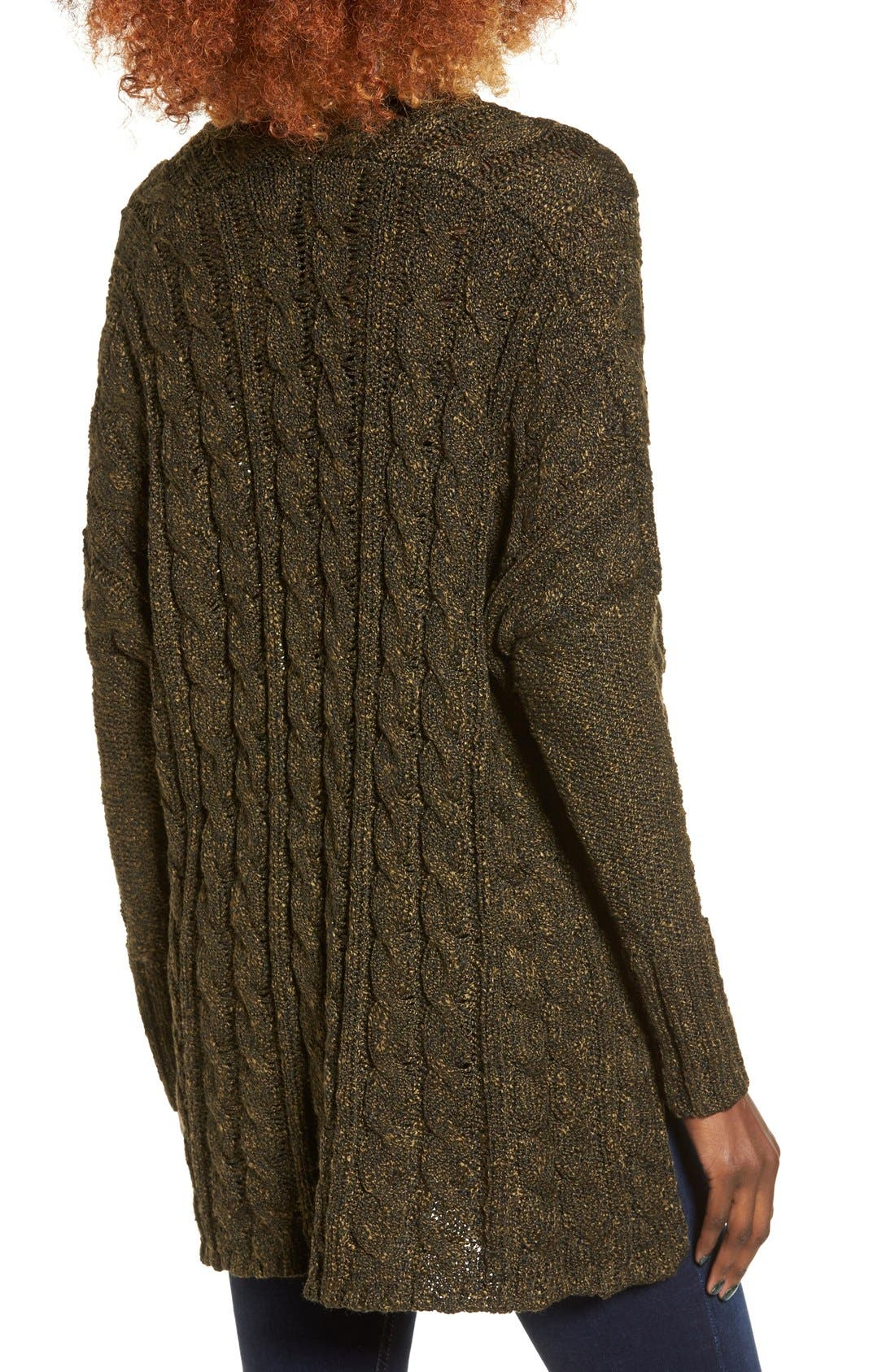 Alternate Image 2  - Love by Design Marled Cable Knit Pullover