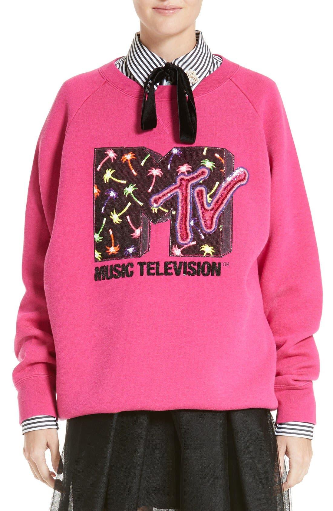 Main Image - MARC JACOBS x MTV Logo Sweatshirt
