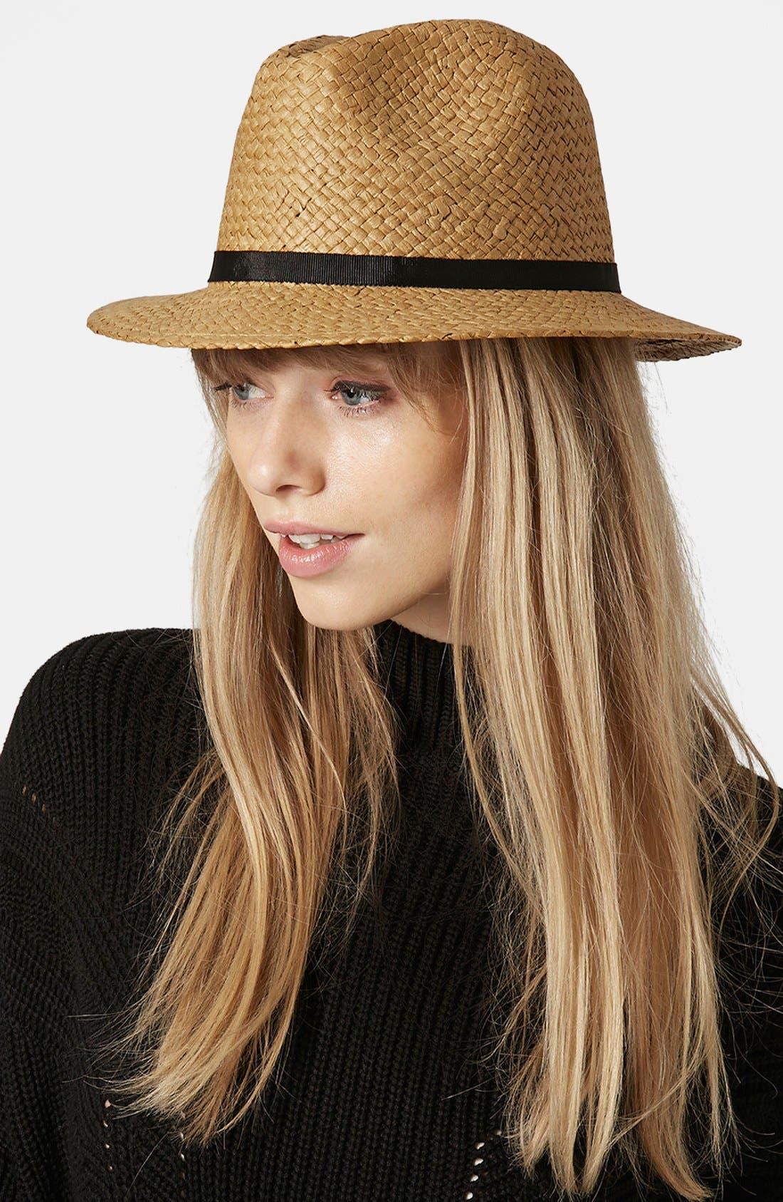 Alternate Image 2  - Topshop Floppy Straw Hat