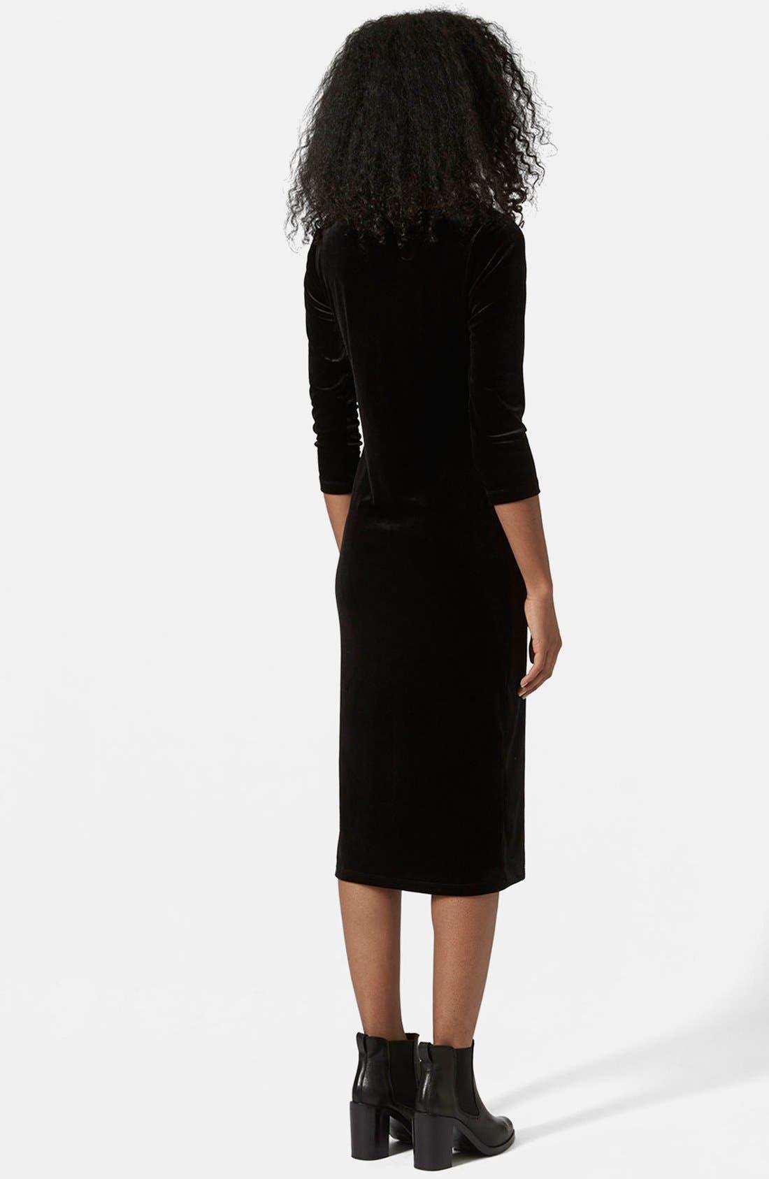 Alternate Image 2  - Topshop Velvet Body-Con Dress