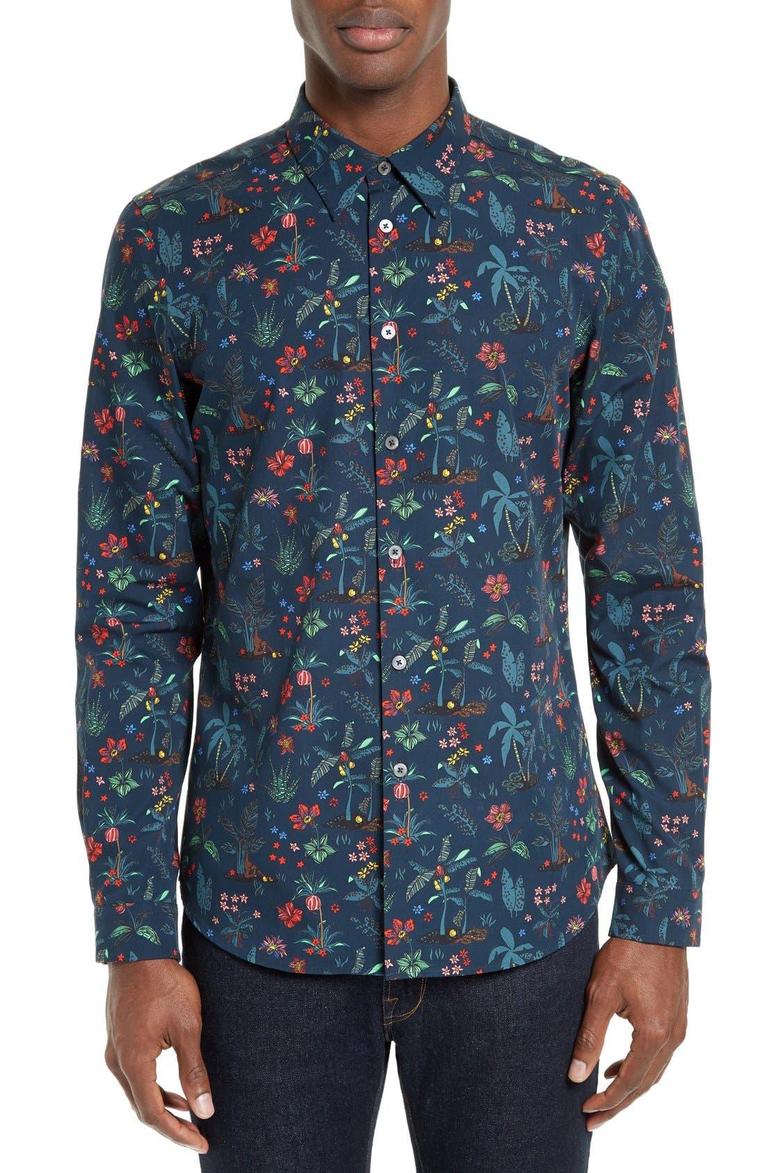 PS Paul Smith Floral Print Sport Shirt