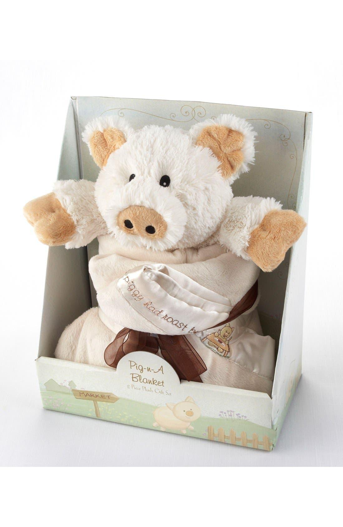 Alternate Image 2  - Baby Aspen Pig Stuffed Animal & Blanket Set
