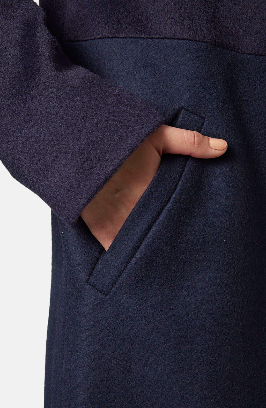 Alternate Image 4  - Topshop Paneled Hybrid Coat