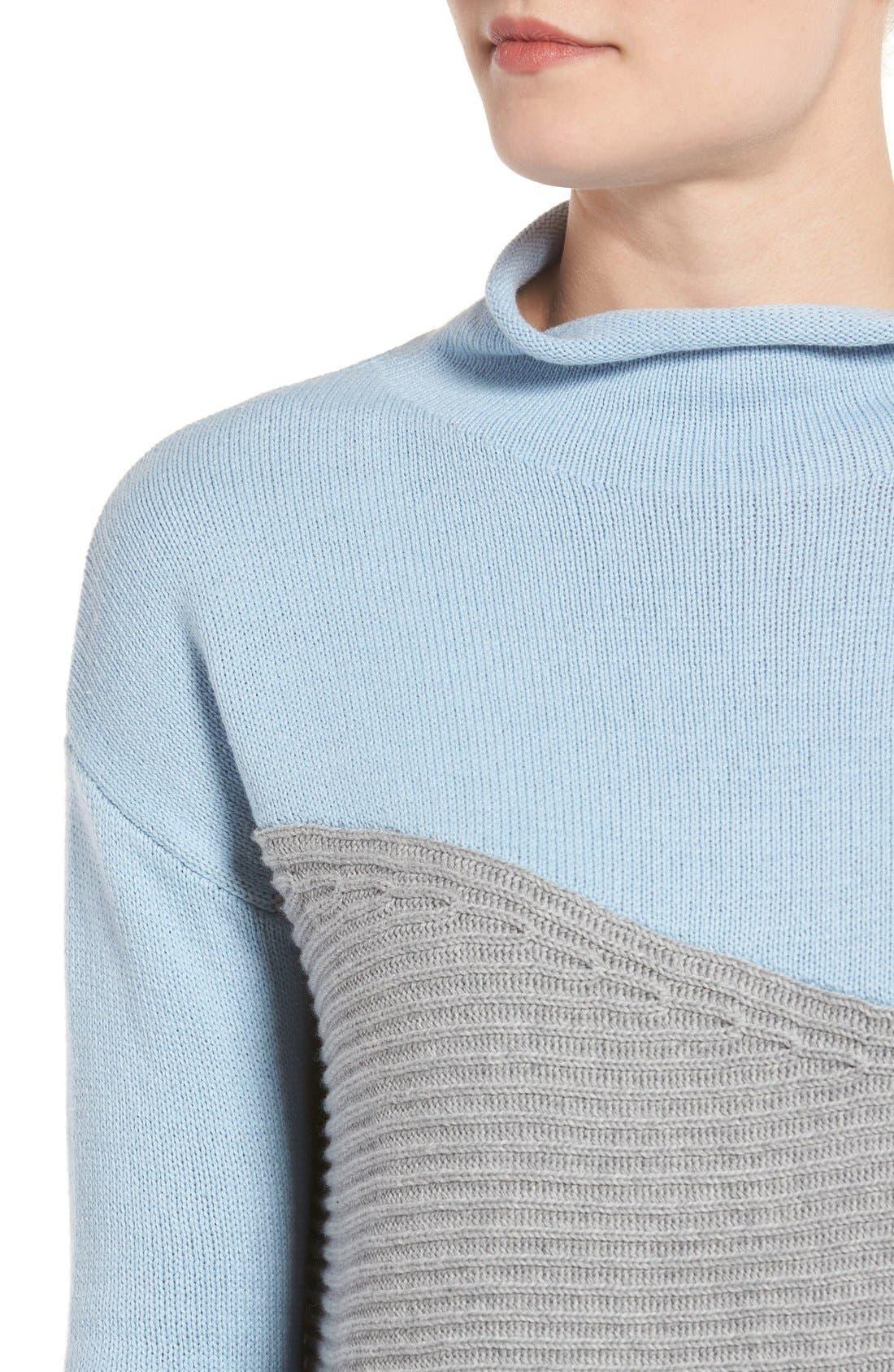 Alternate Image 4  - Vince Camuto Colorblock Turtleneck Sweater (Regular & Petite)