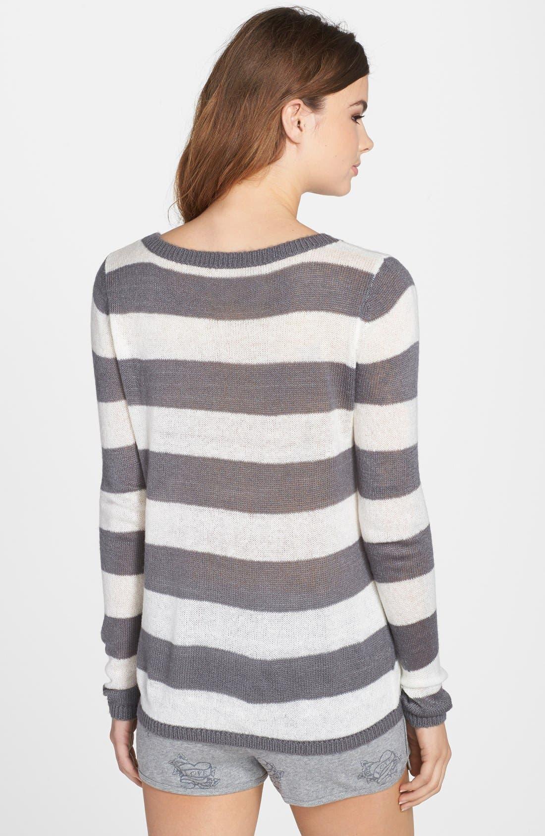 Alternate Image 2  - PJ Salvage 'Sweet Hearts' Striped Sweater