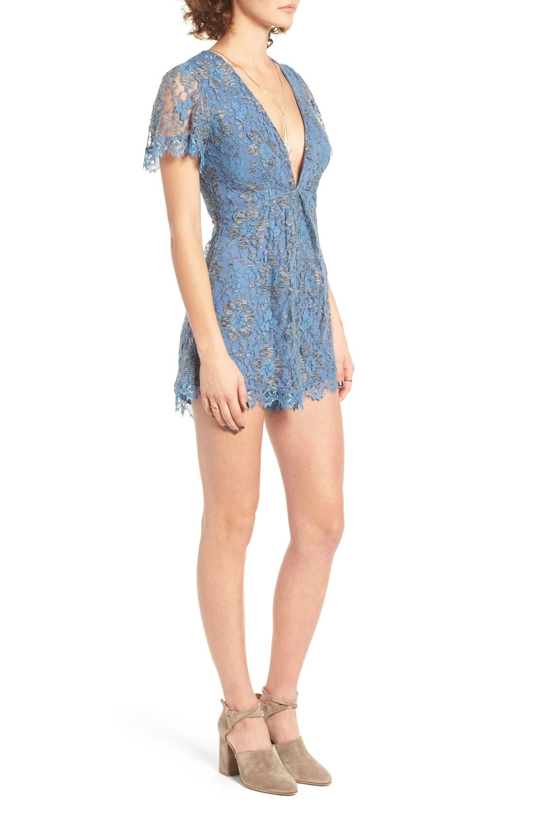 Alternate Image 4  - ASTR the Label Ryan Lace Romper