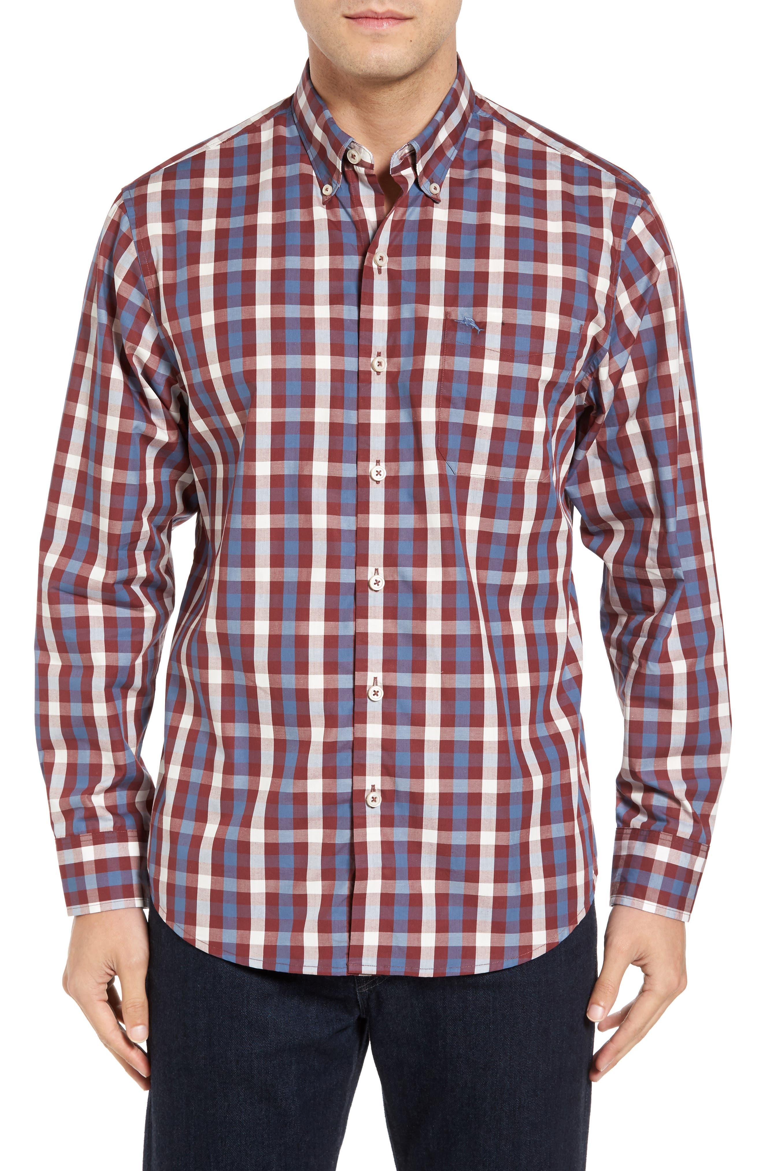 Tommy Bahama Tudo Check Sport Shirt (Big & Tall)