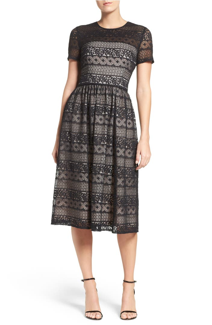 Maggy London Lace Midi Dress Nordstrom