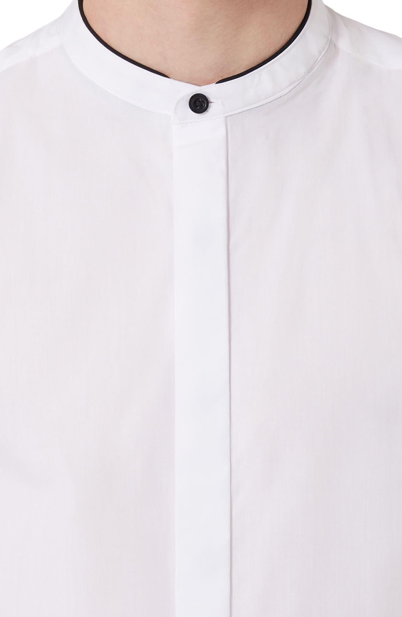 Alternate Image 5  - Topman Slim Fit Band Collar Dress Shirt