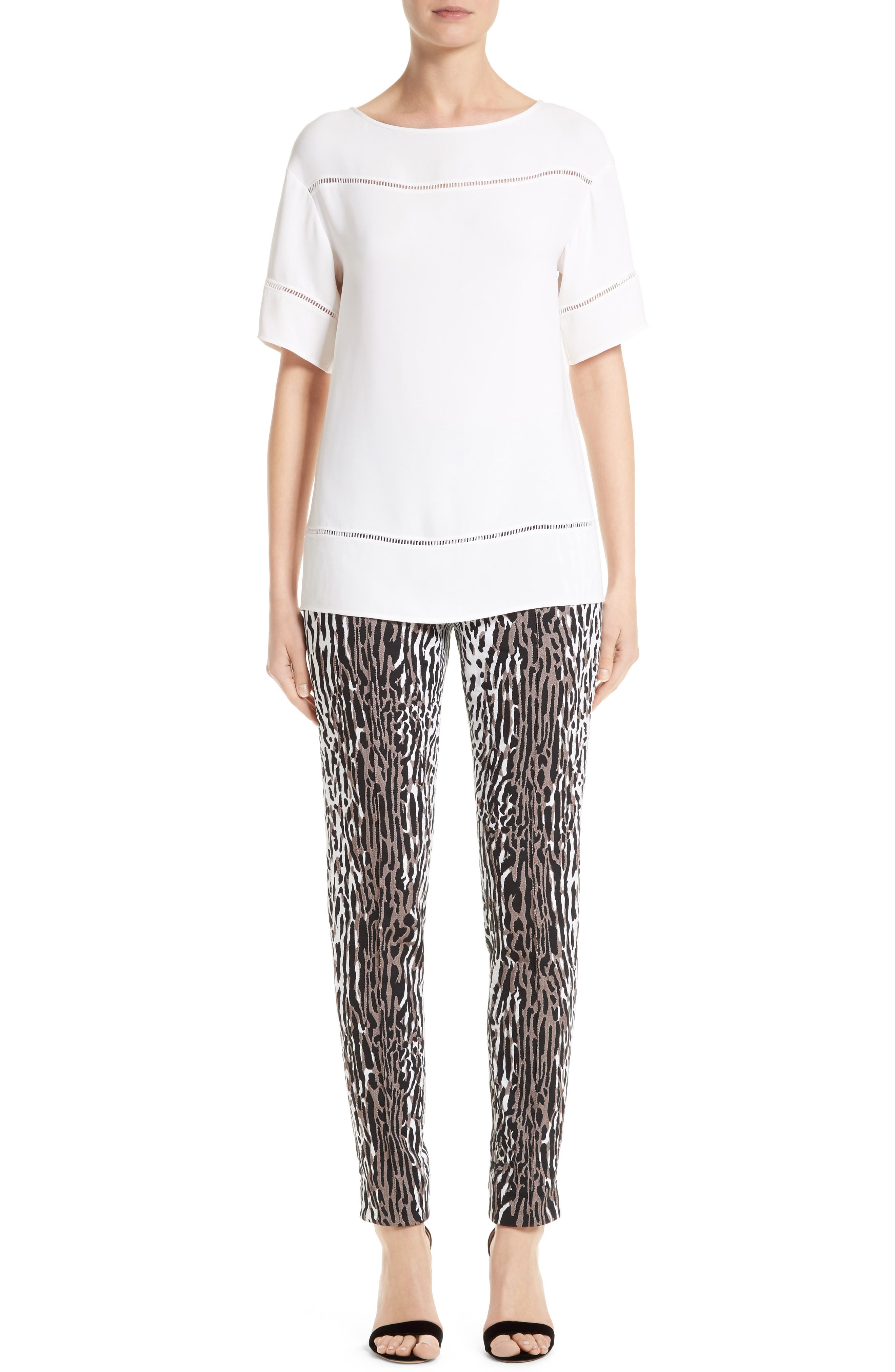 Alternate Image 6  - St. John Collection Leopard Jacquard Ankle Pants