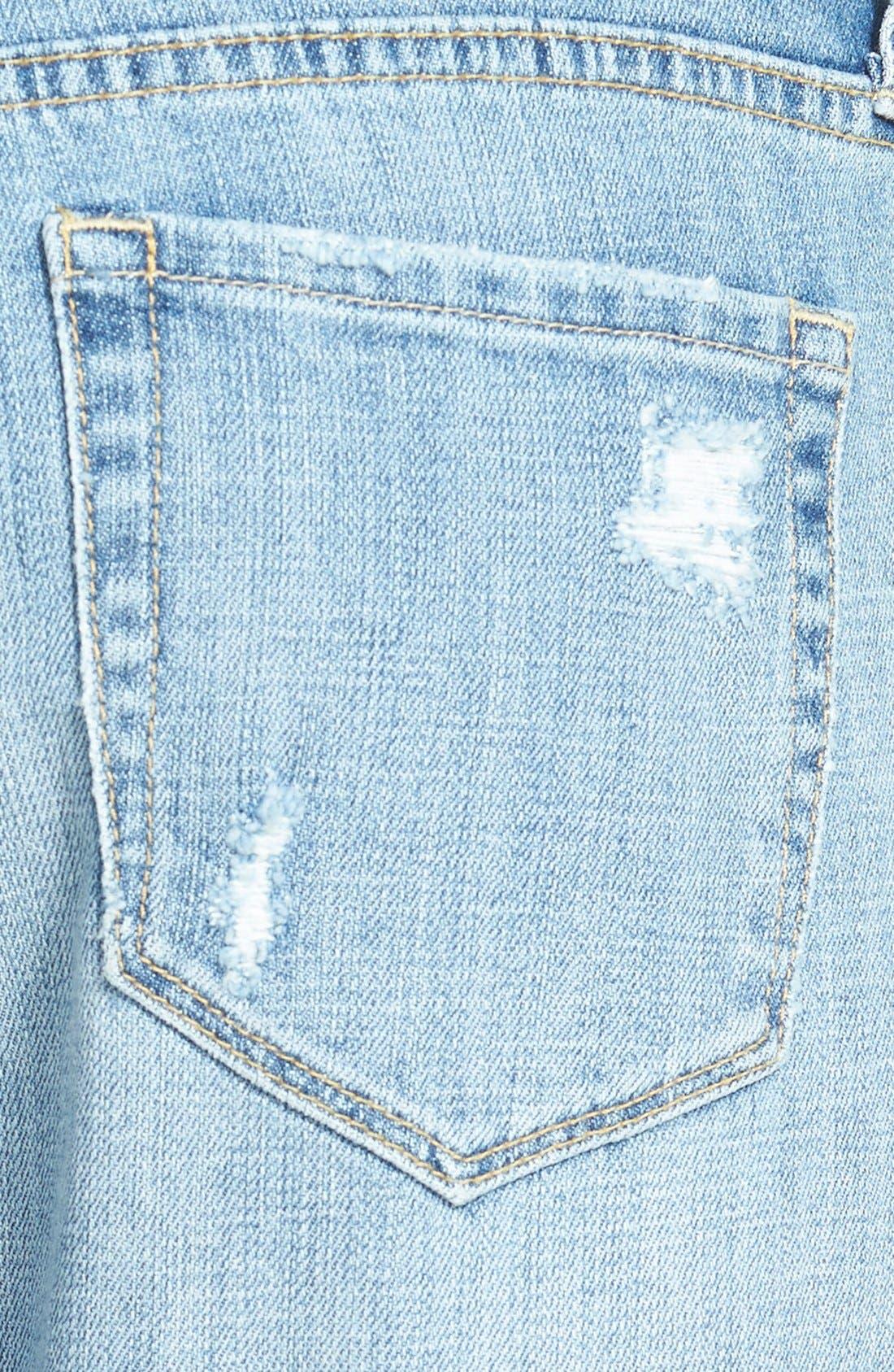 Alternate Image 3  - Treasure&Bond Destructed Boyfriend Jeans (Blue Jay Light Rip & Repair)