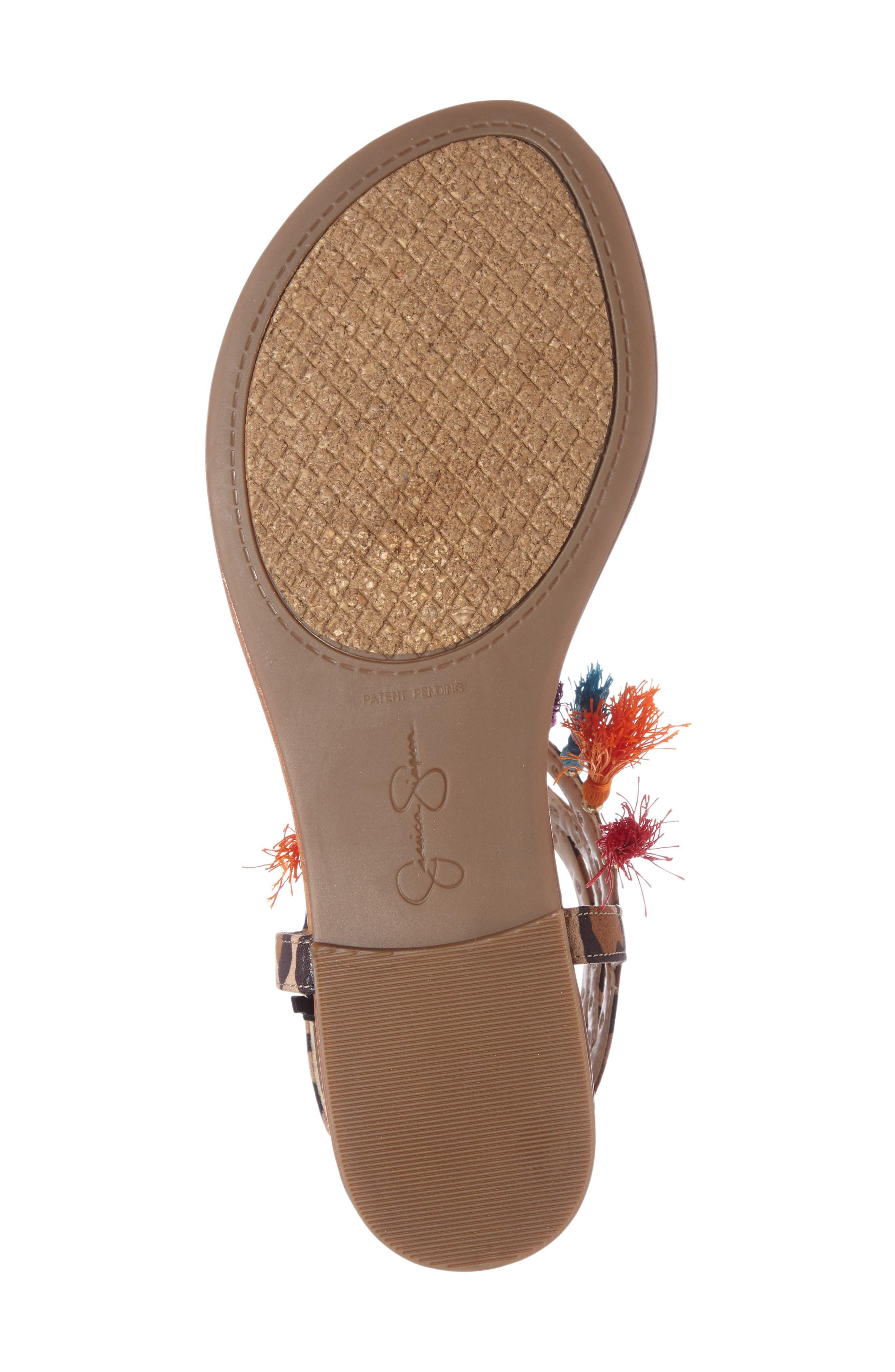 Alternate Image 4  - Jessica Simpson Kamel Studded Tassel Sandal (Women)