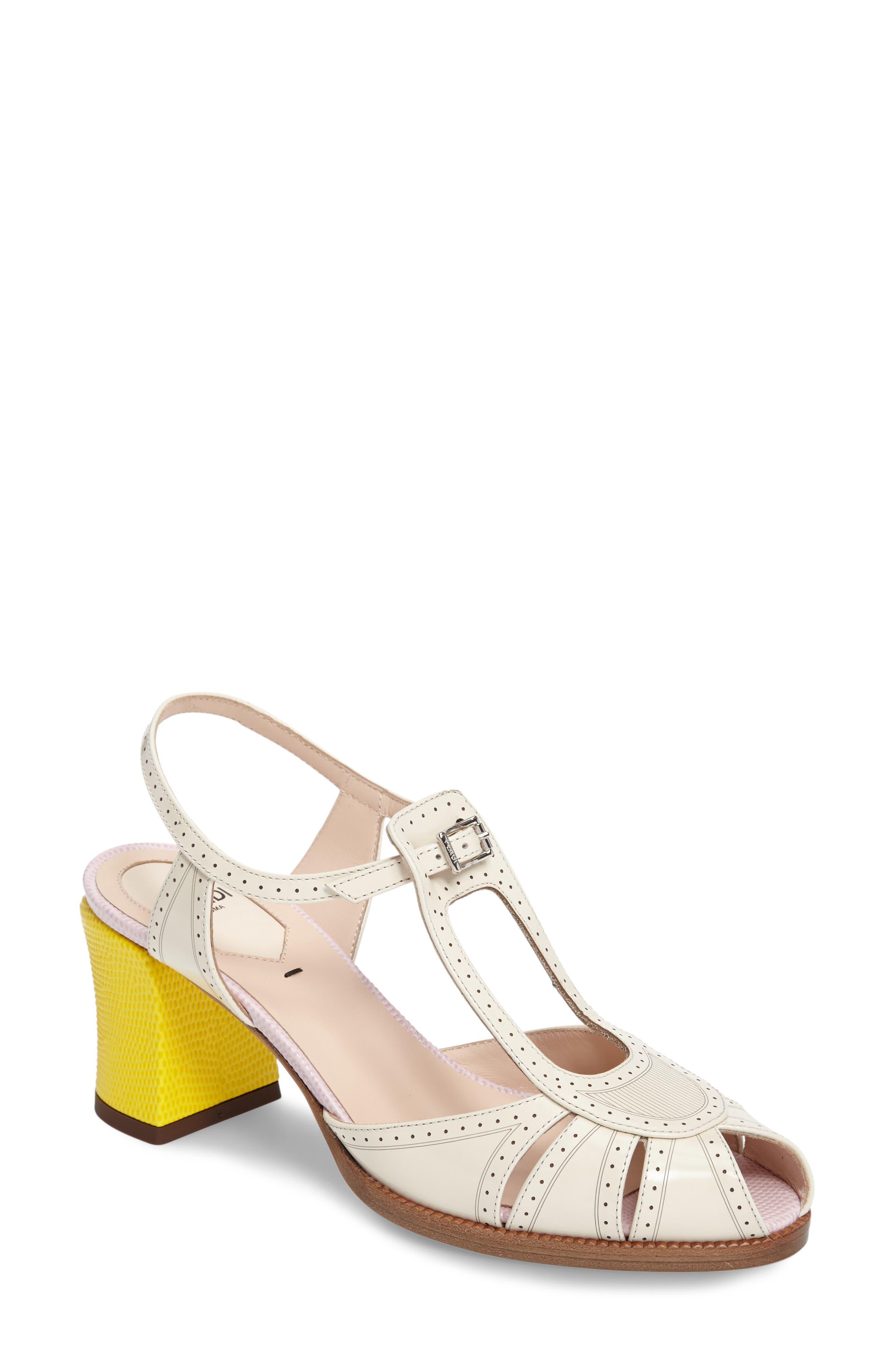 FENDI 'Chameleon' Leather Sandal