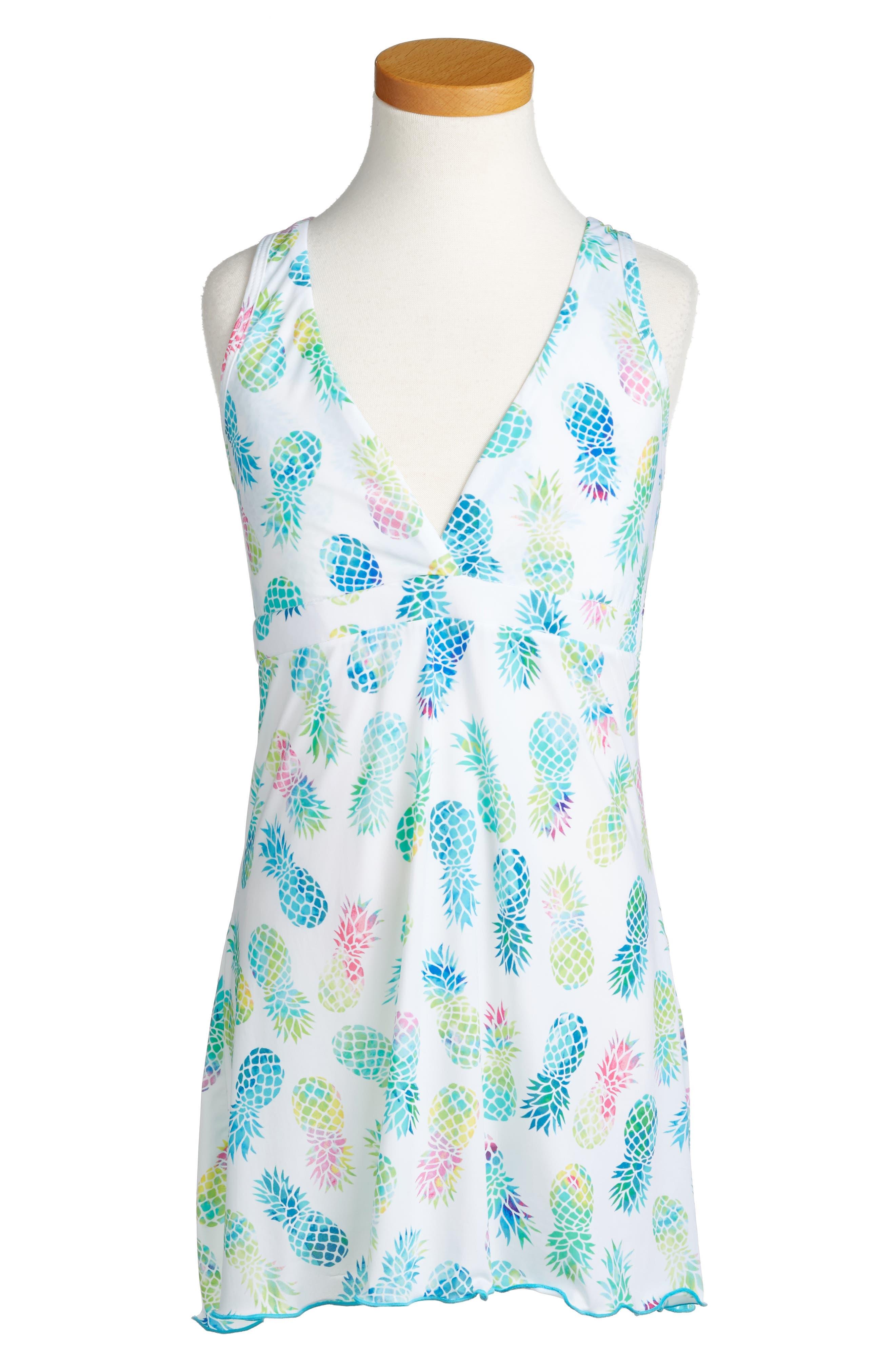 PilyQ Little Parker Print Cover-Up Dress (Little Girls & Big Girls)