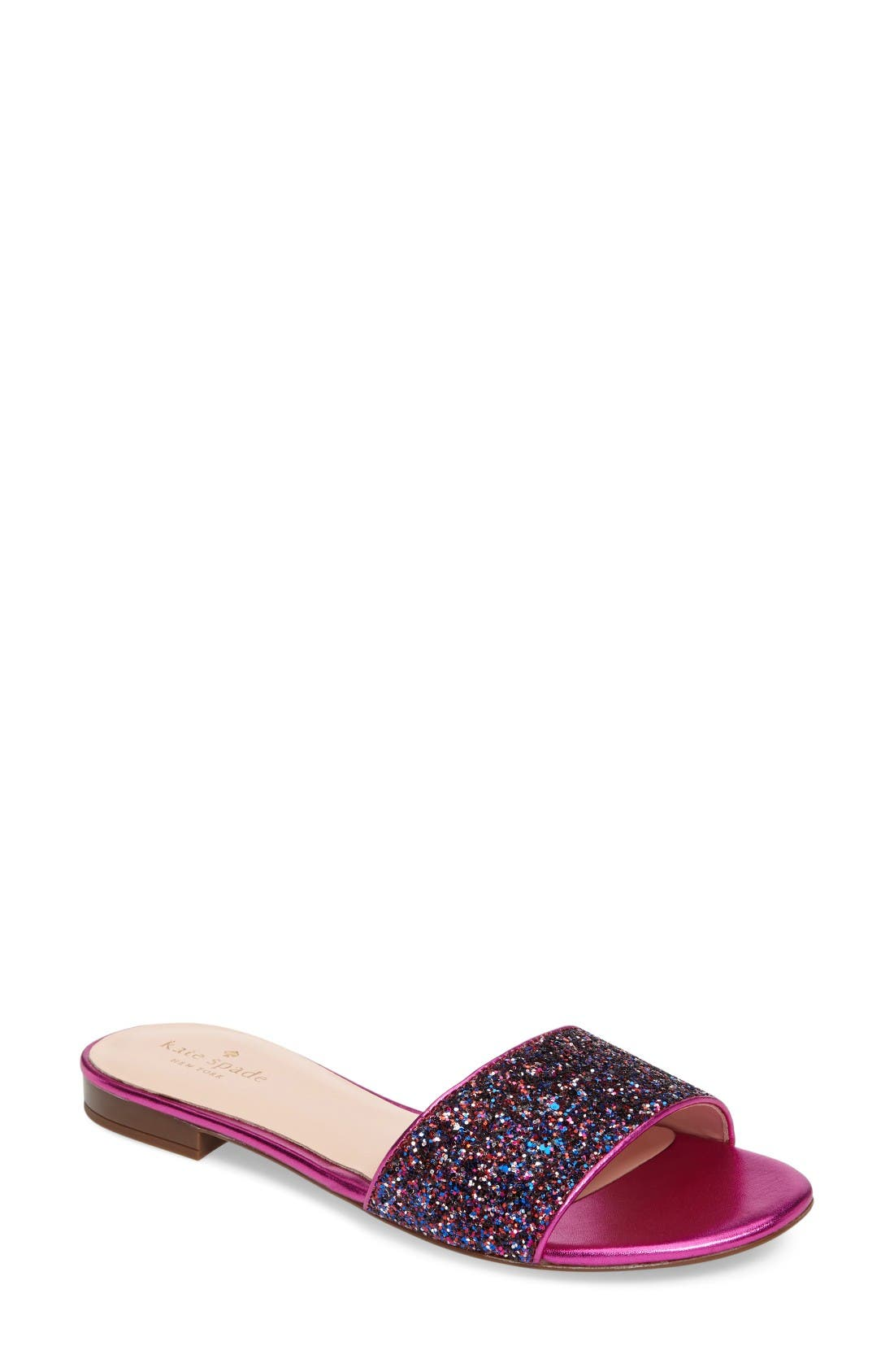 KATE SPADE NEW YORK madeline embellished slide sandal
