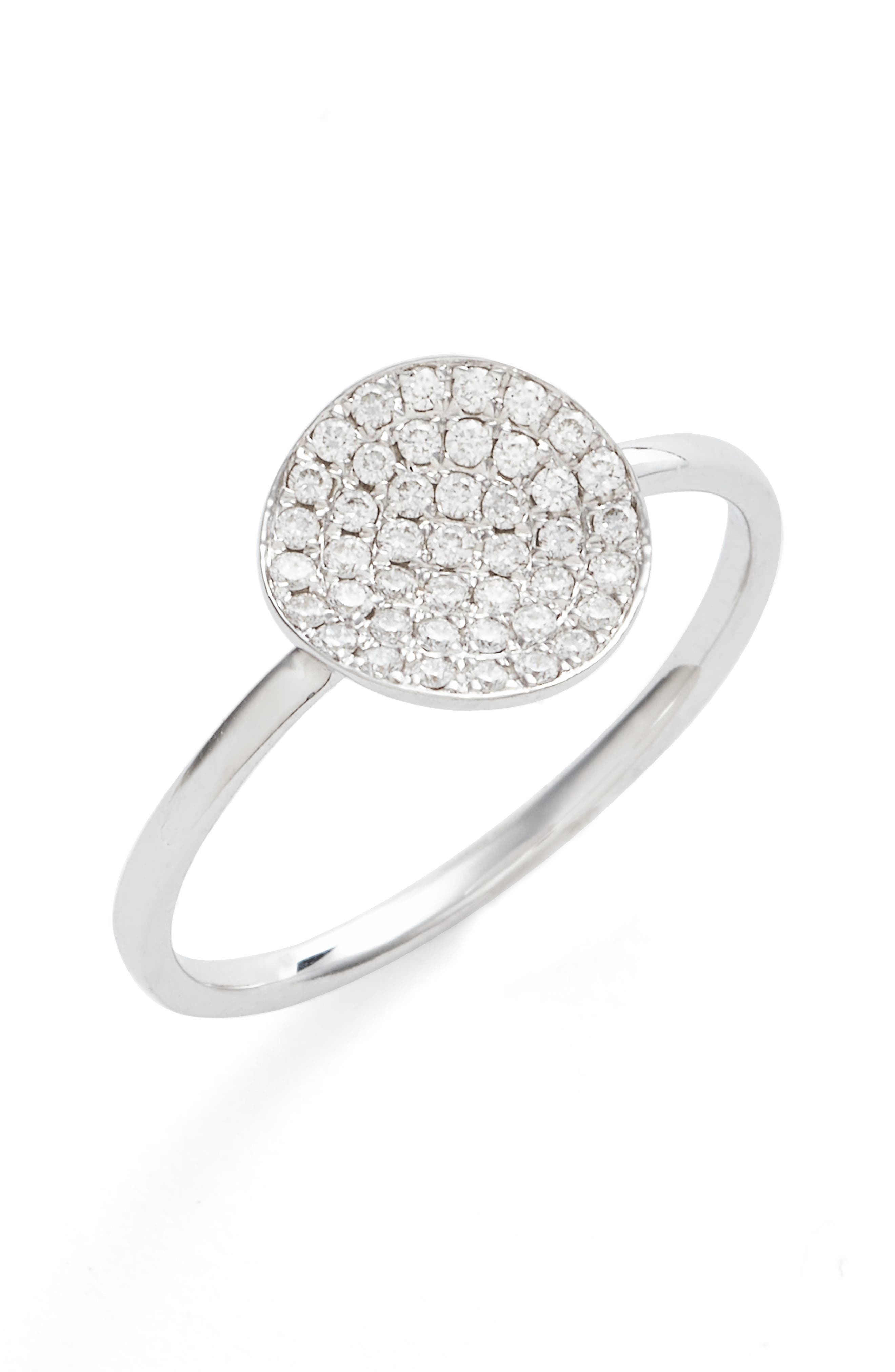Bony Levy Aurelia Small Diamond Concave Ring (Nordstrom Exclusive)