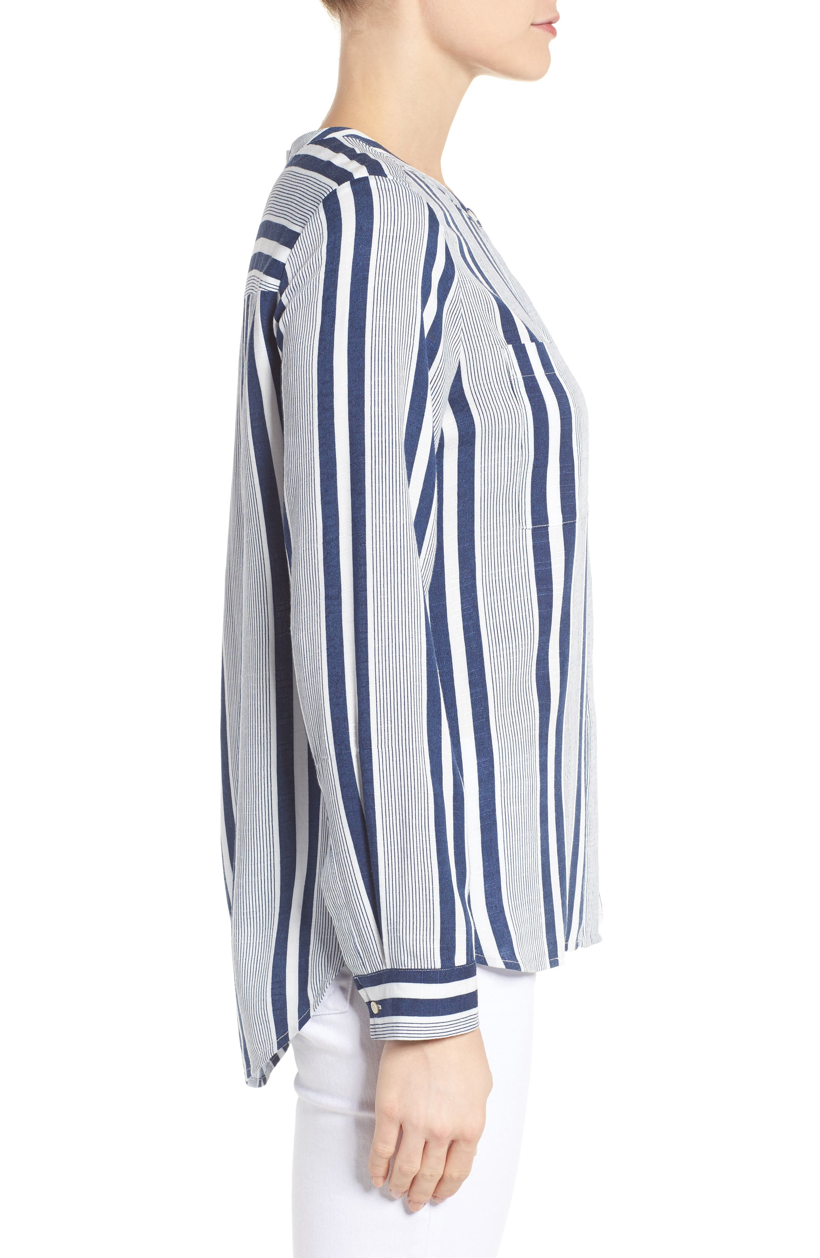 Alternate Image 4  - Two by Vince Camuto Stripe Blouse