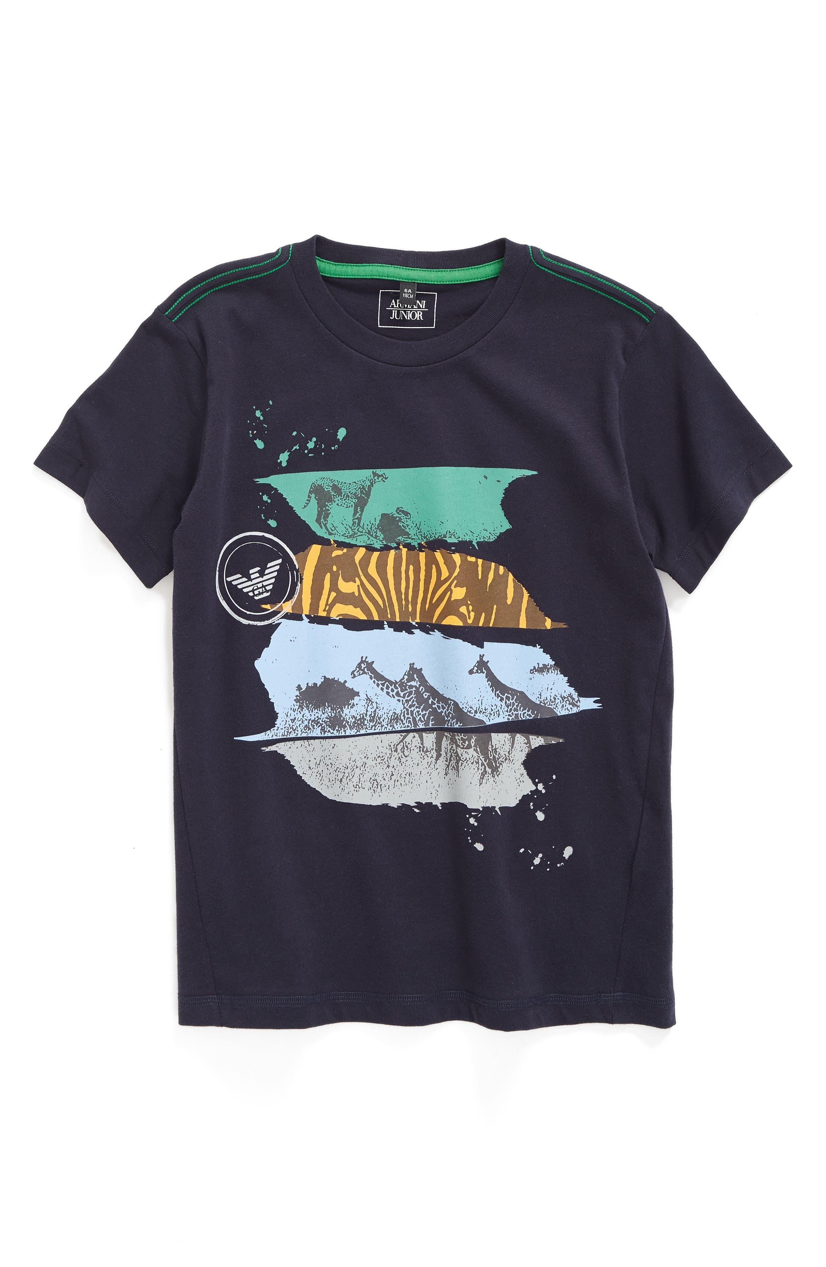 Armani Junior Animal Paint Splatter Graphic T-Shirt (Little Boys & Big Boys)