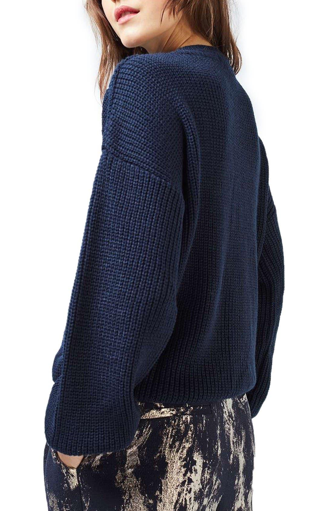 Alternate Image 2  - Topshop Blouson Sleeve Sweater