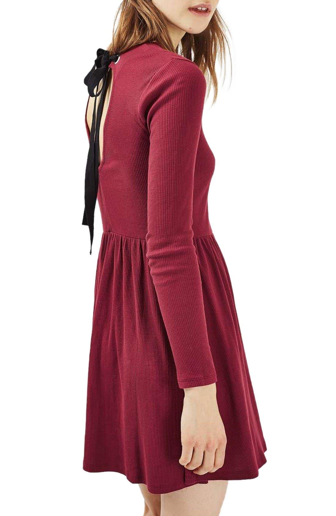 Alternate Image 3  - Topshop Tie Back Skater Dress