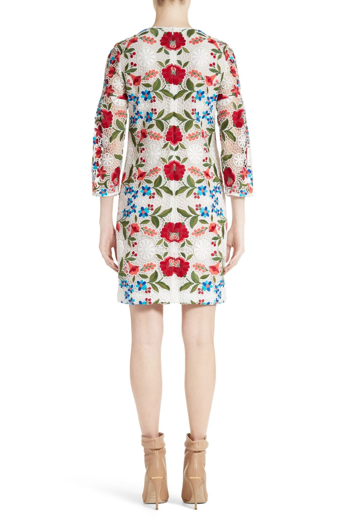 Alternate Image 2  - Burberry Carrie Embroidered Lace Dress