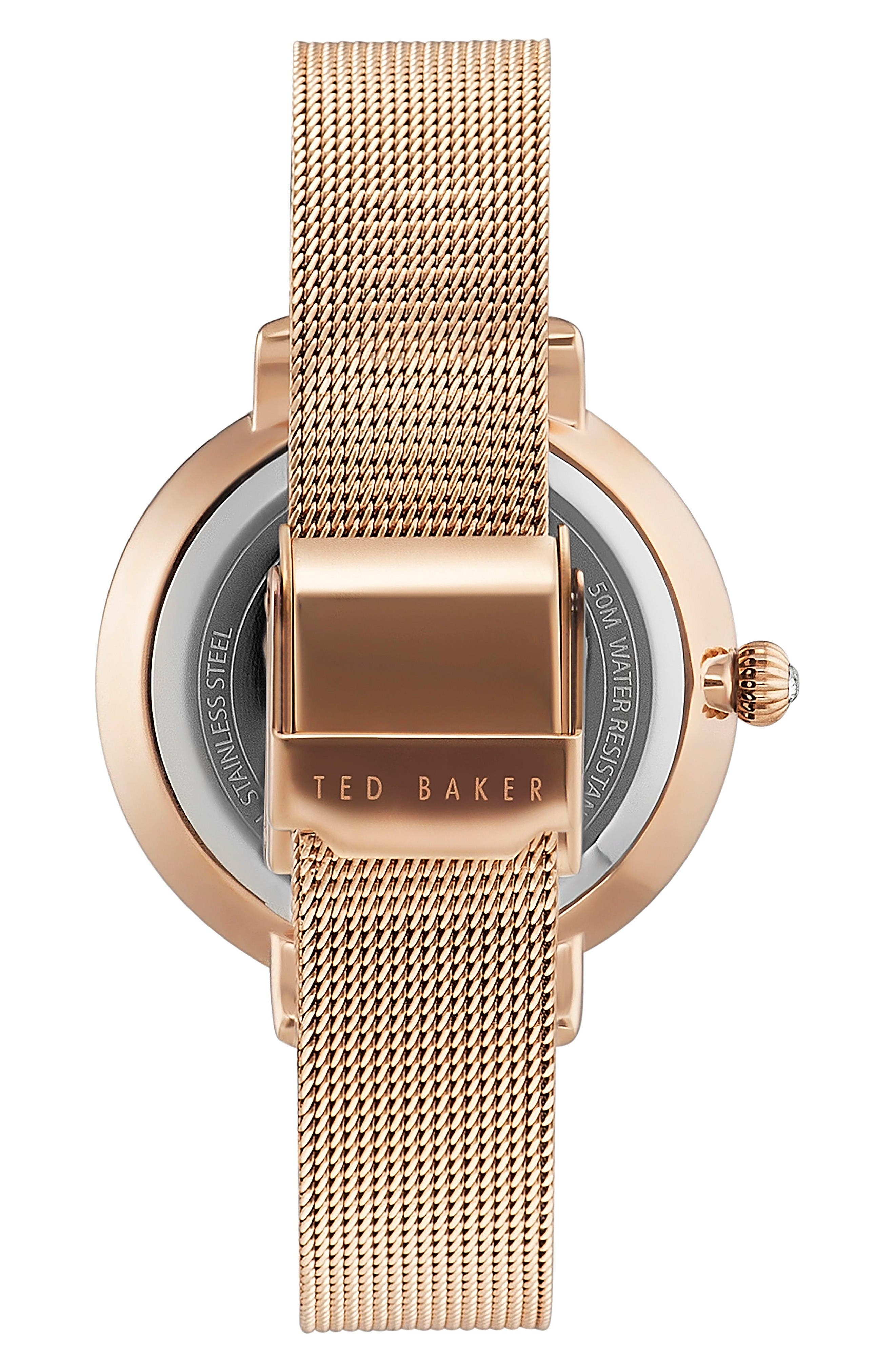 Alternate Image 2  - Ted Baker London Isla Round Mesh Strap Watch, 36mm