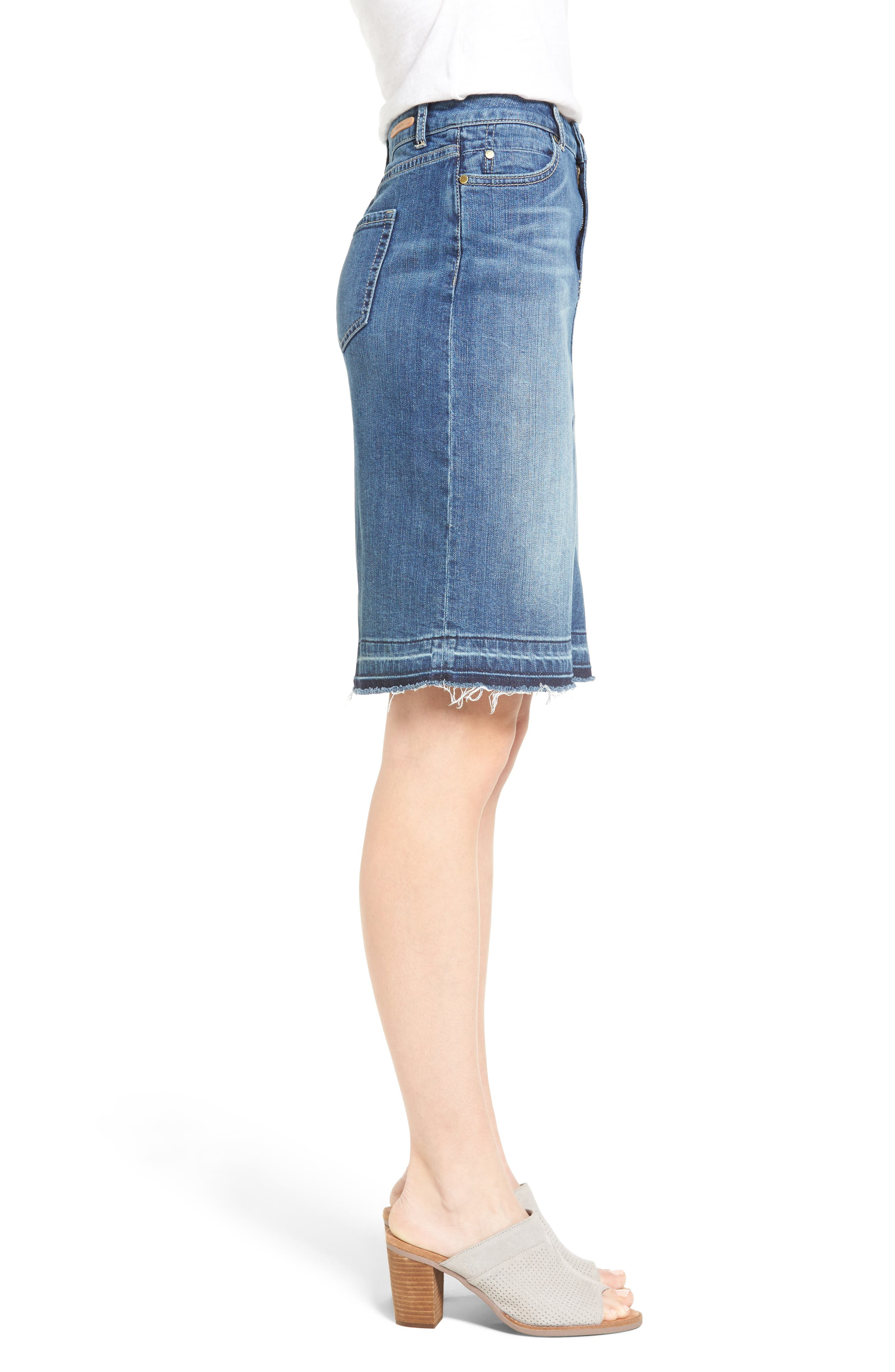 Alternate Image 3  - Caslon® Release Hem Denim Pencil Skirt