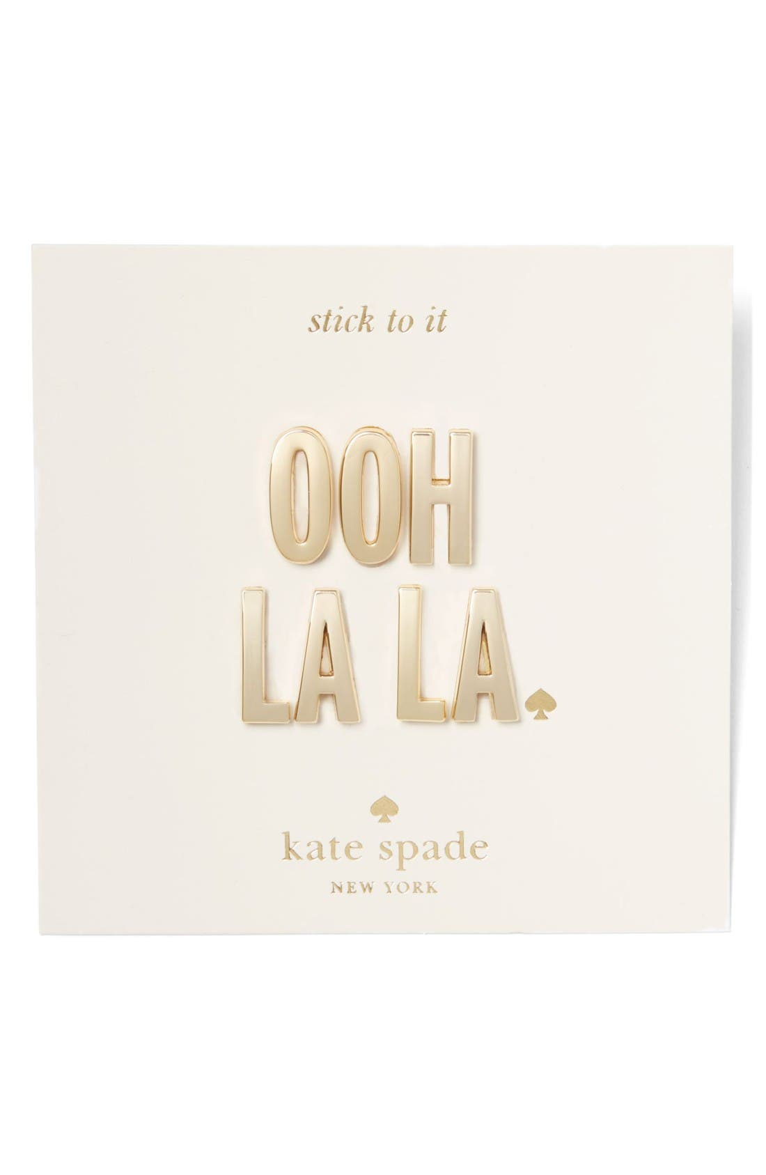 Alternate Image 2  - kate spade new york ooh la la 14-karat gold plated stickers