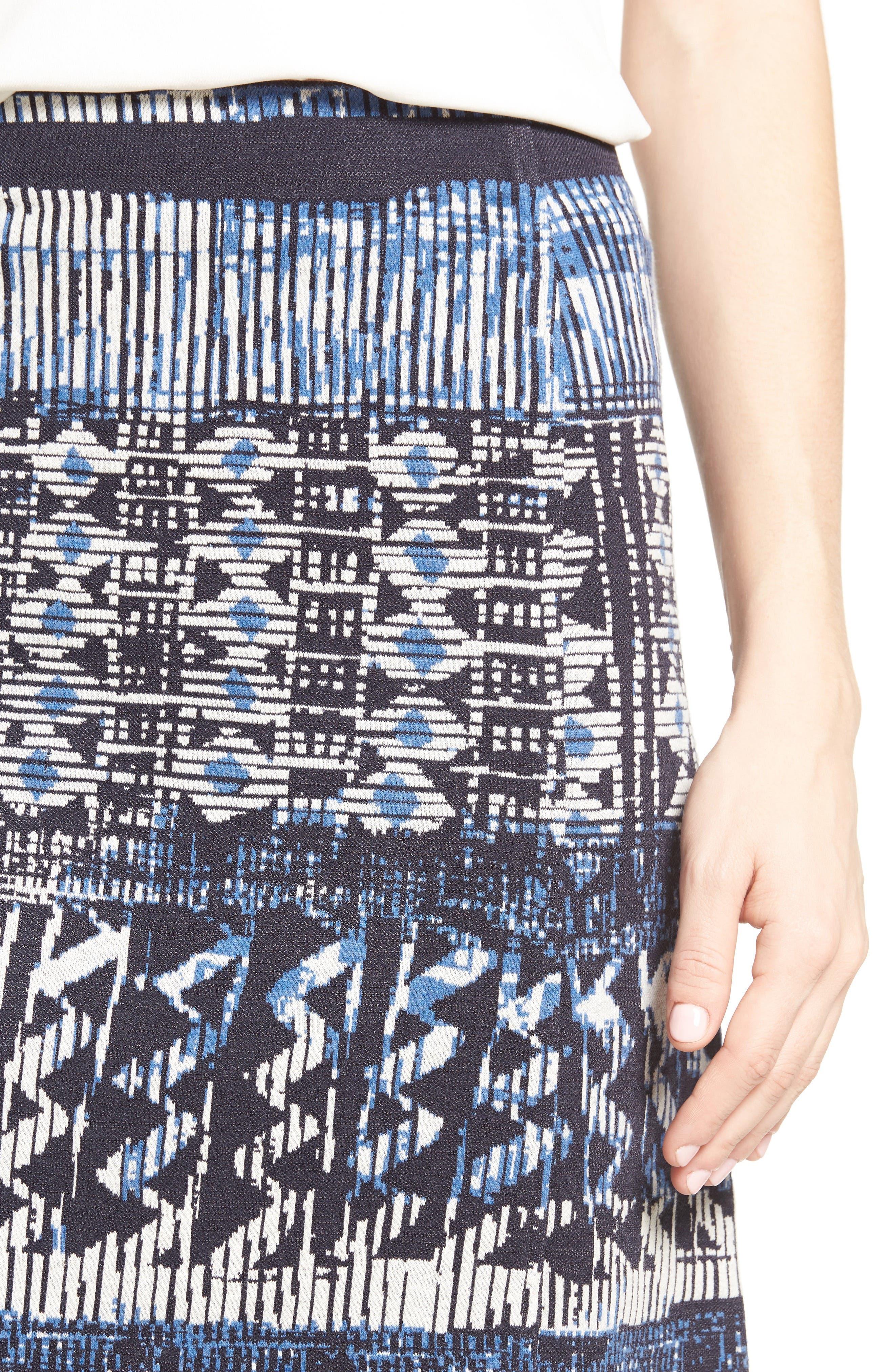 Alternate Image 4  - NIC+ZOE Blue Streak Skirt