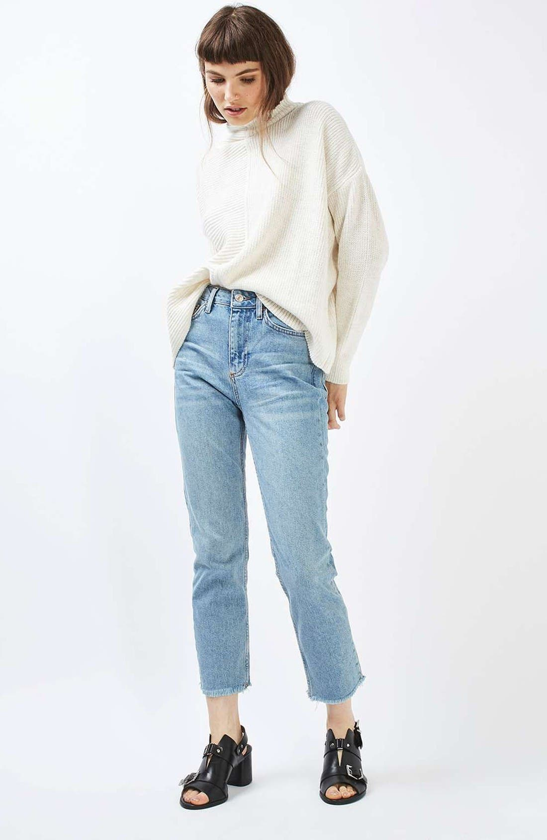 Alternate Image 2  - Topshop Mixed Knit Sweater