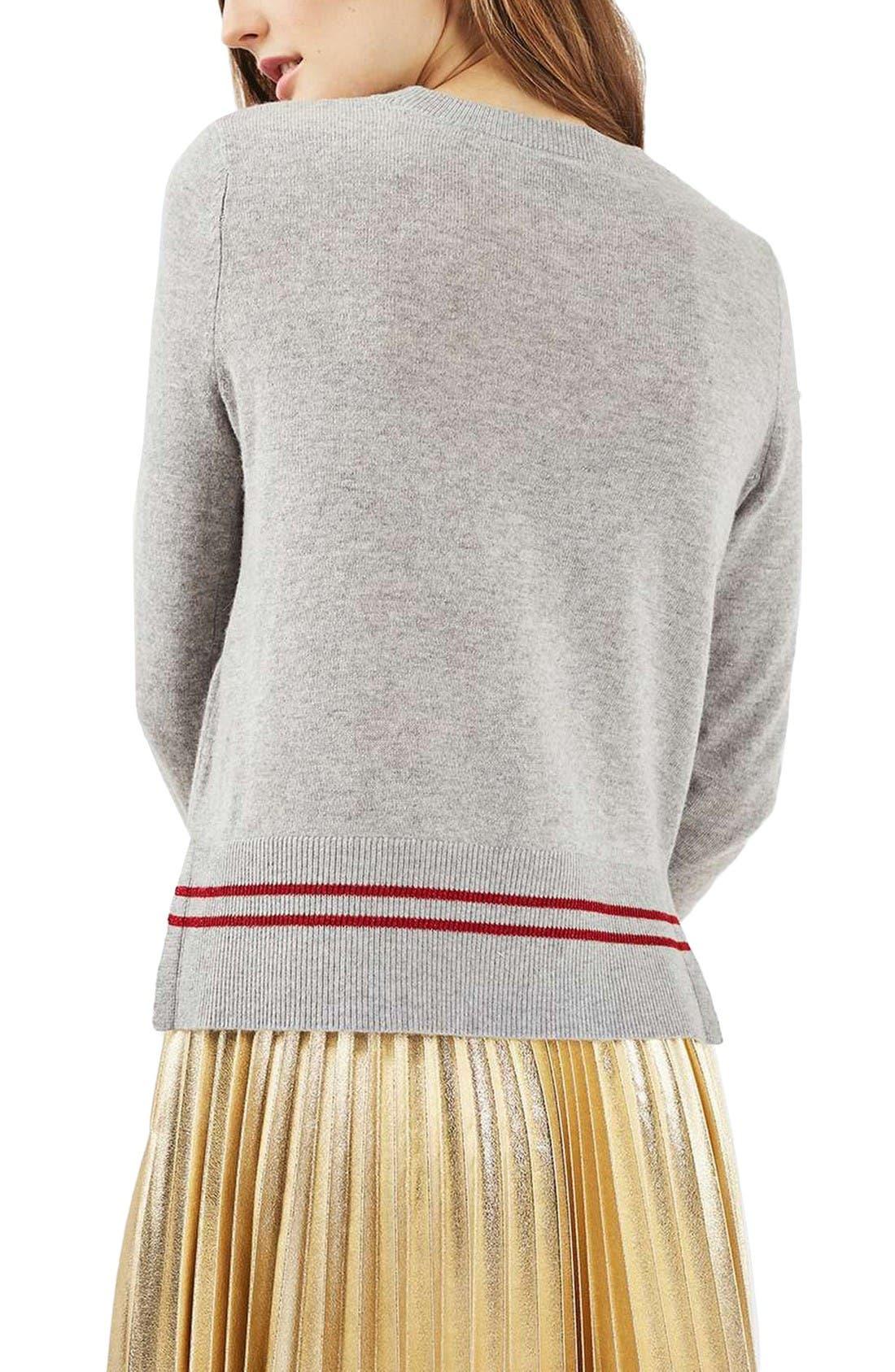 Alternate Image 3  - Topshop Sequin Embellished Cat Sweater (Petite)