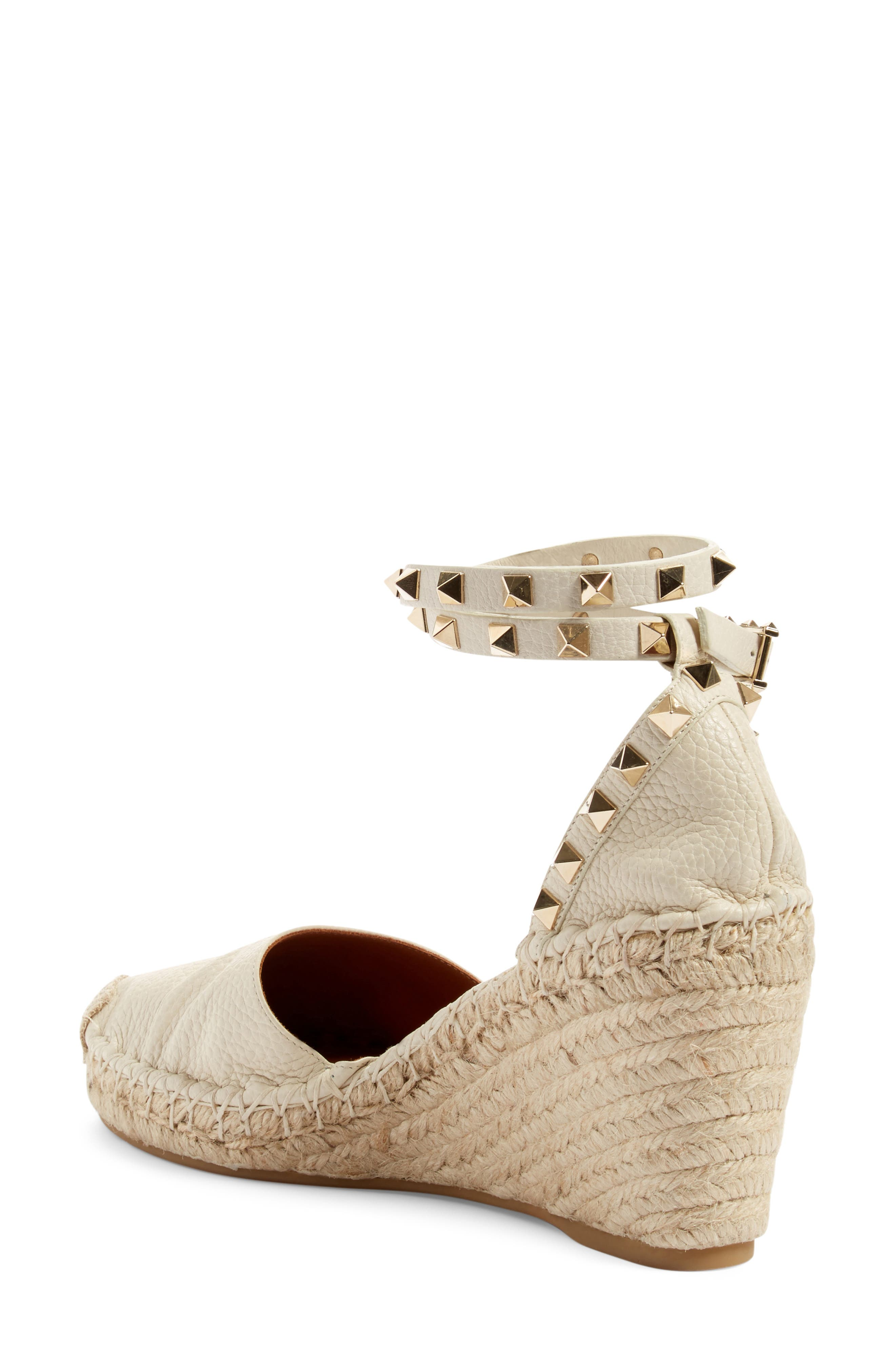 Alternate Image 2  - Valentino Rockstud Espadrille Wedge (Women)