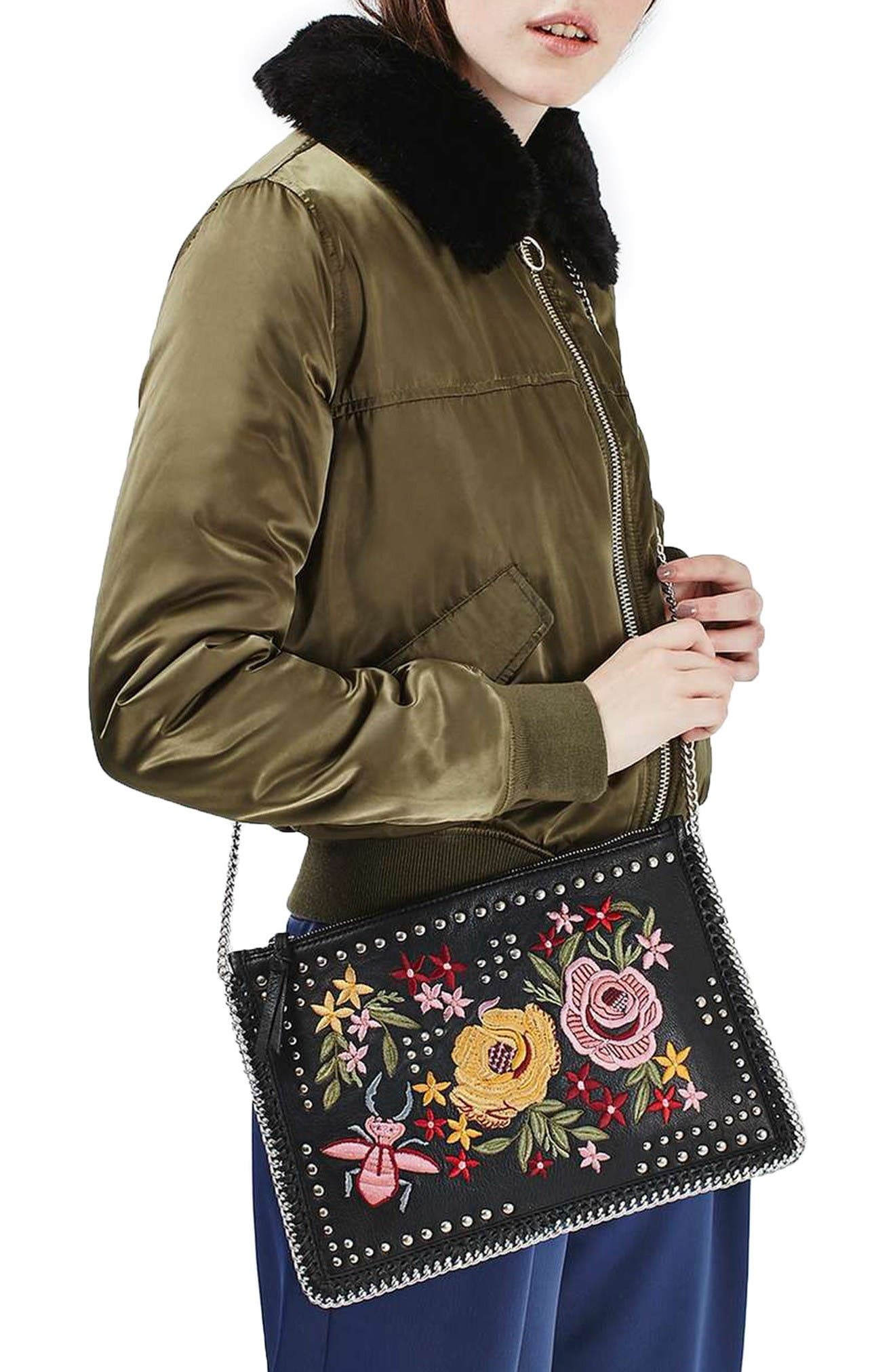 Alternate Image 2  - Topshop Oto Embroidered Crossbody