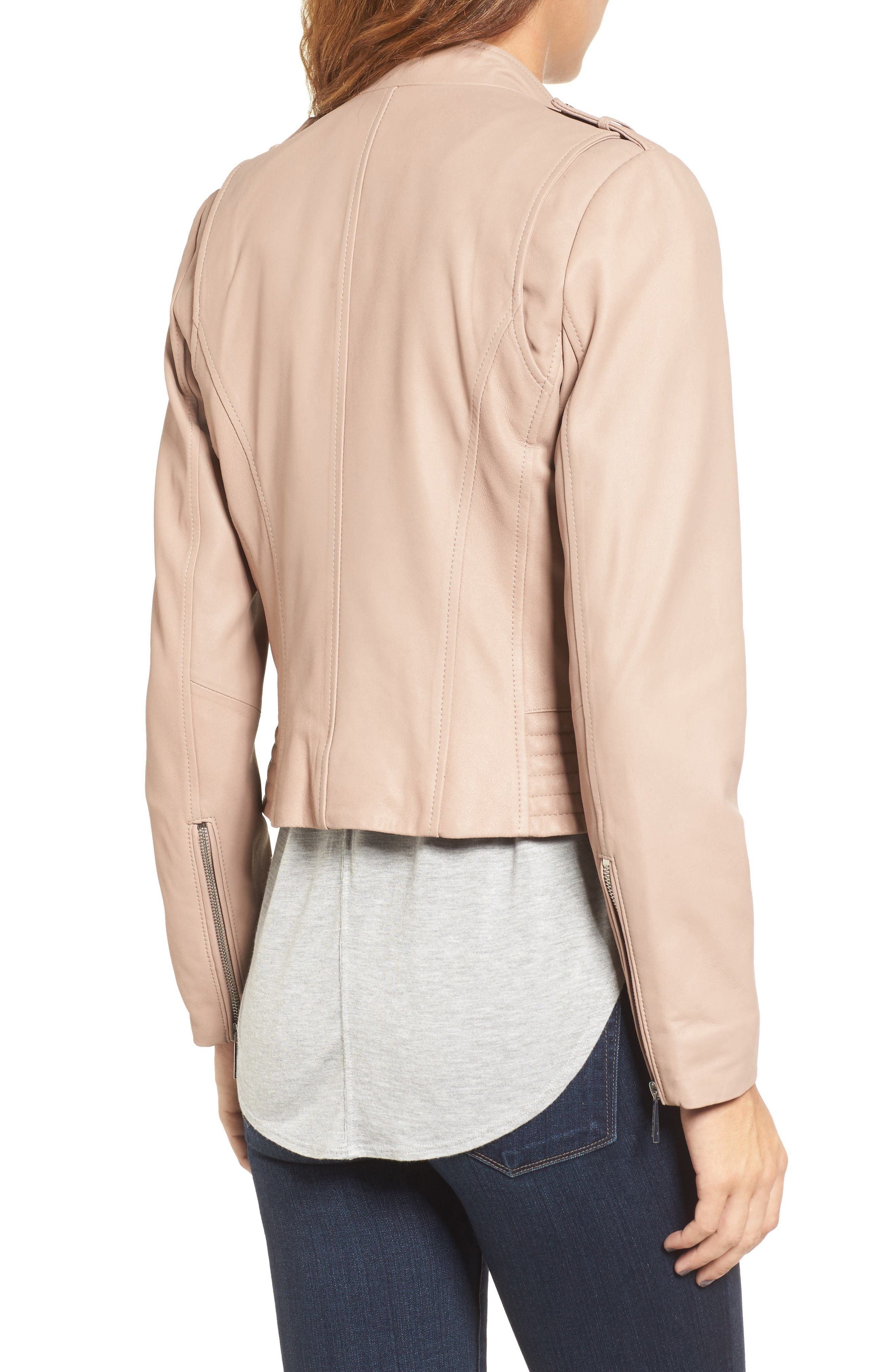 Alternate Image 2  - MICHAEL Michael Kors Leather Moto Jacket