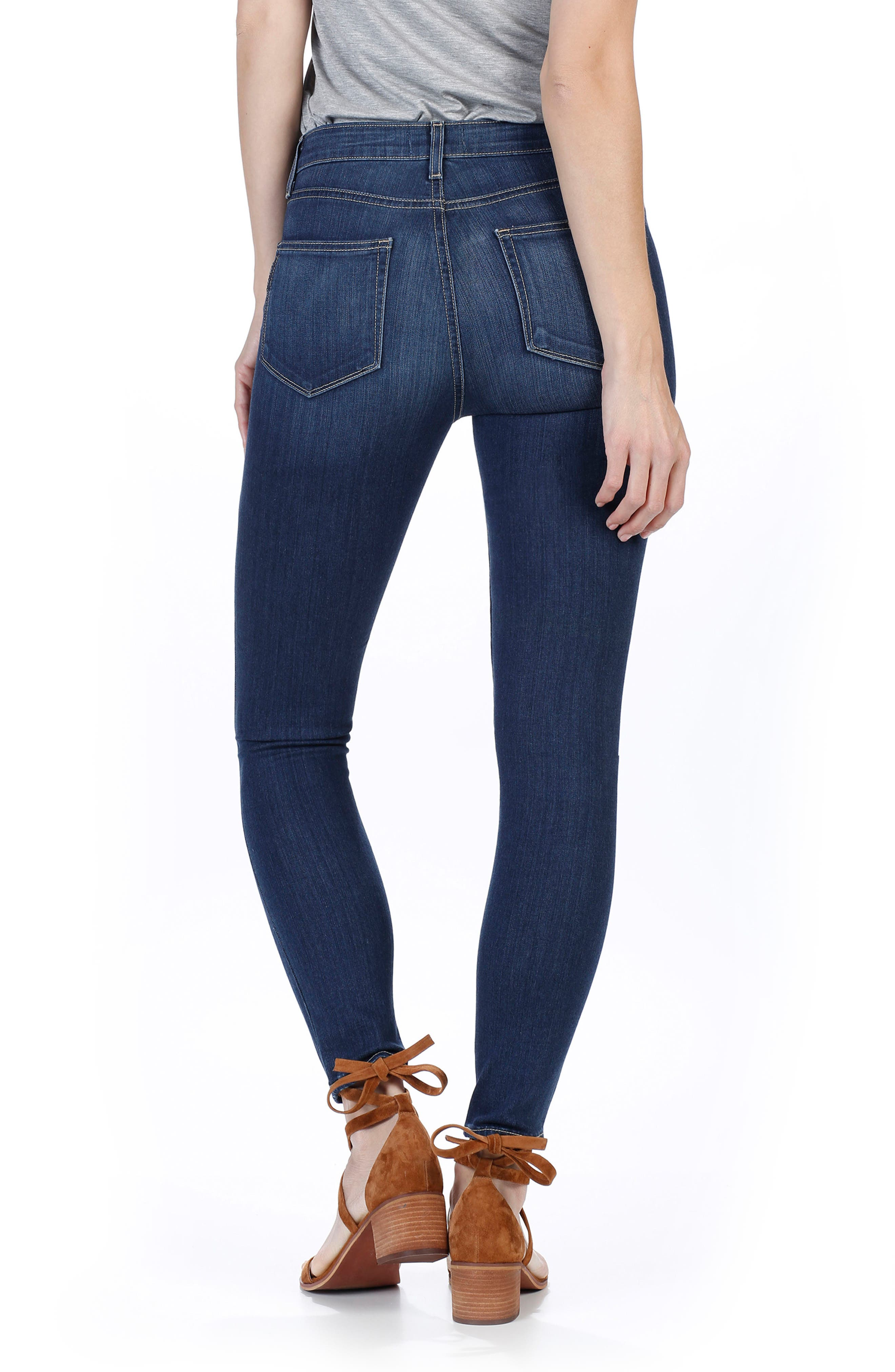 Alternate Image 2  - PAIGE Transcend - Hoxton High Waist Ankle Skinny Jeans (Trina)