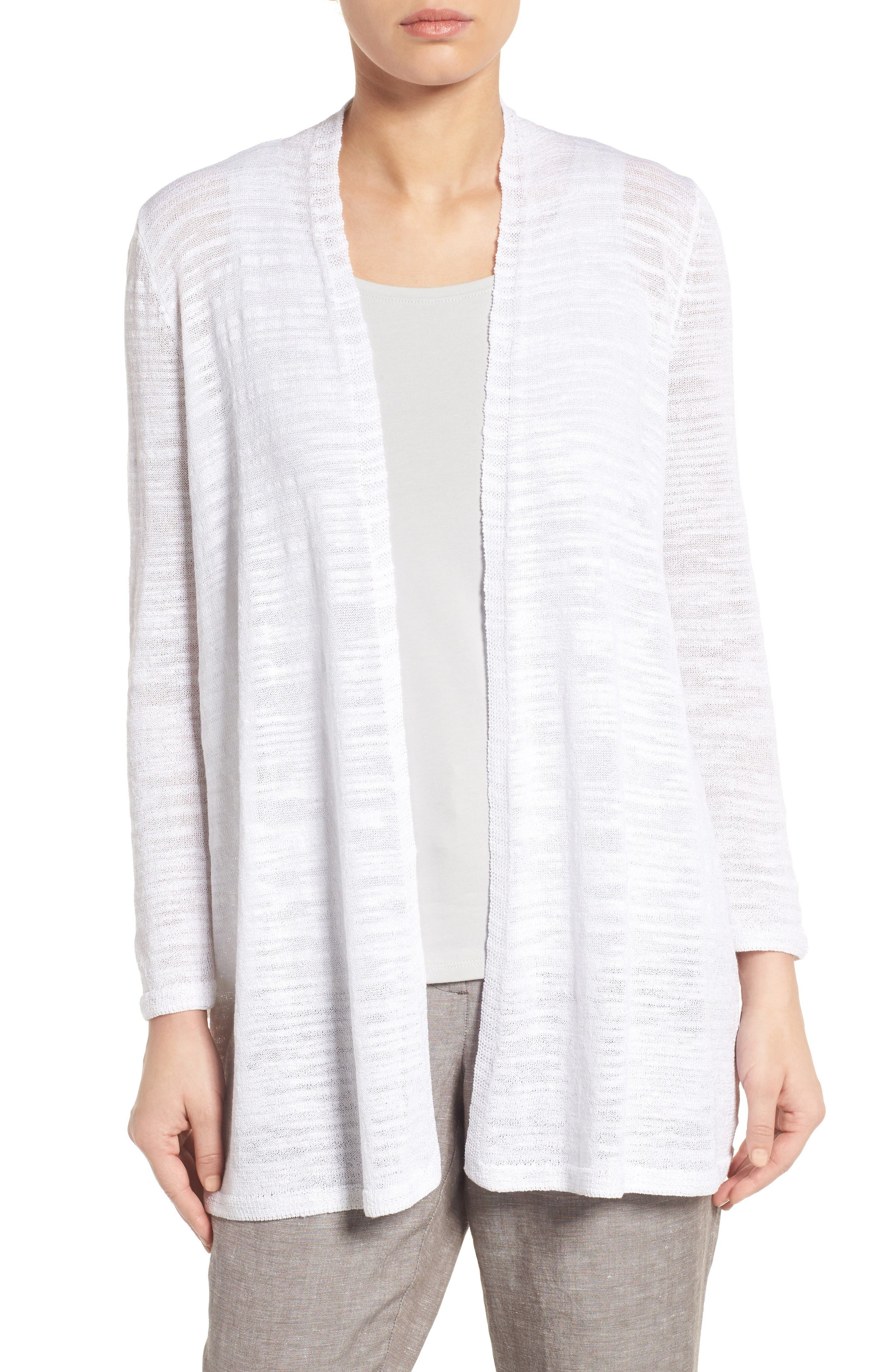 Alternate Image 1 Selected - NIC+ZOE Islet Slub Knit Cardigan (Regular & Petite)