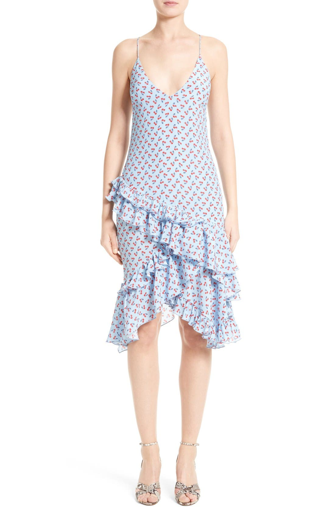 ALTUZARRA Corona Cherry Print Silk Dress
