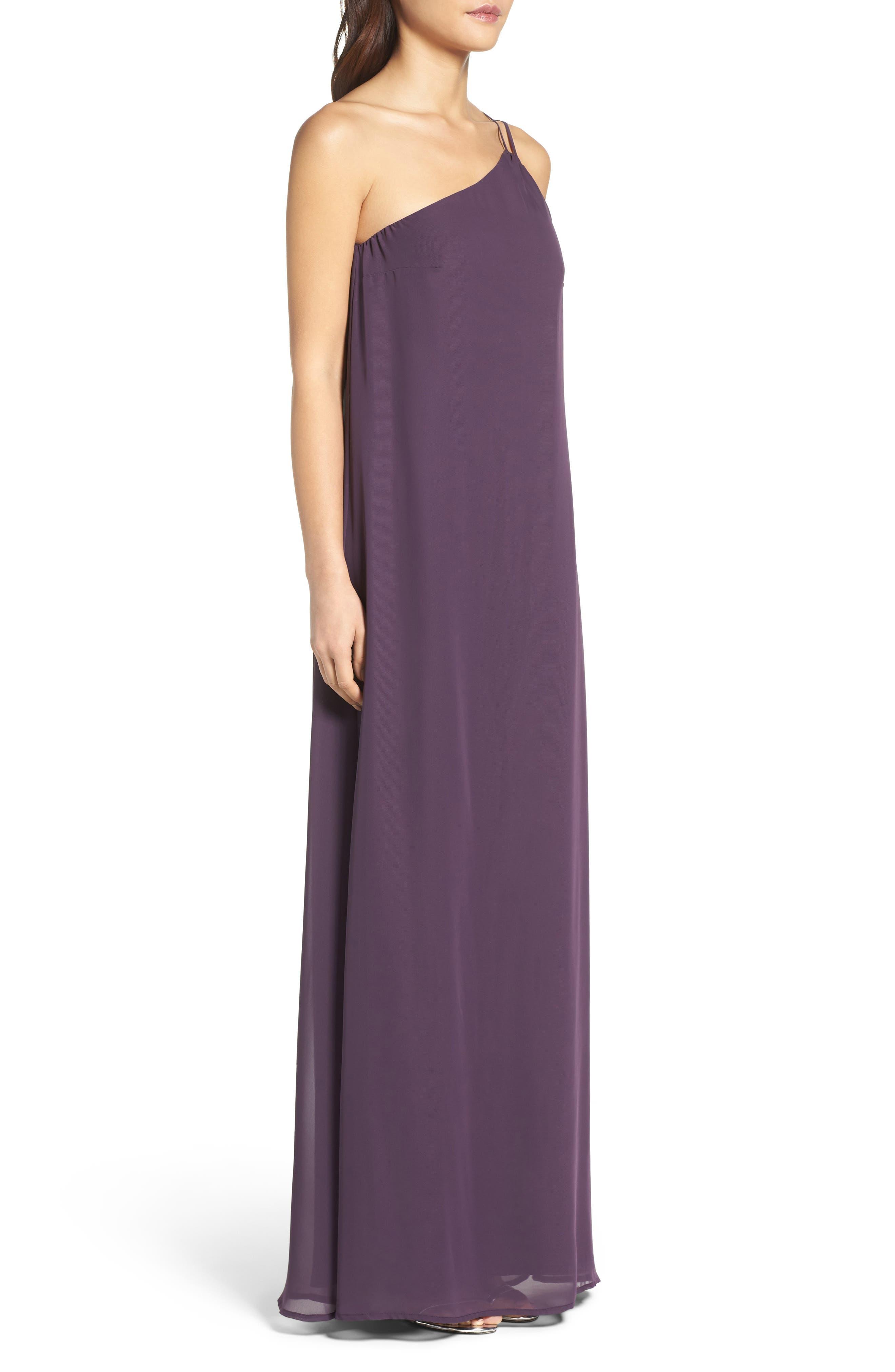 Alternate Image 3  - nouvelle AMSALE Hadley One-Shoulder Chiffon Gown