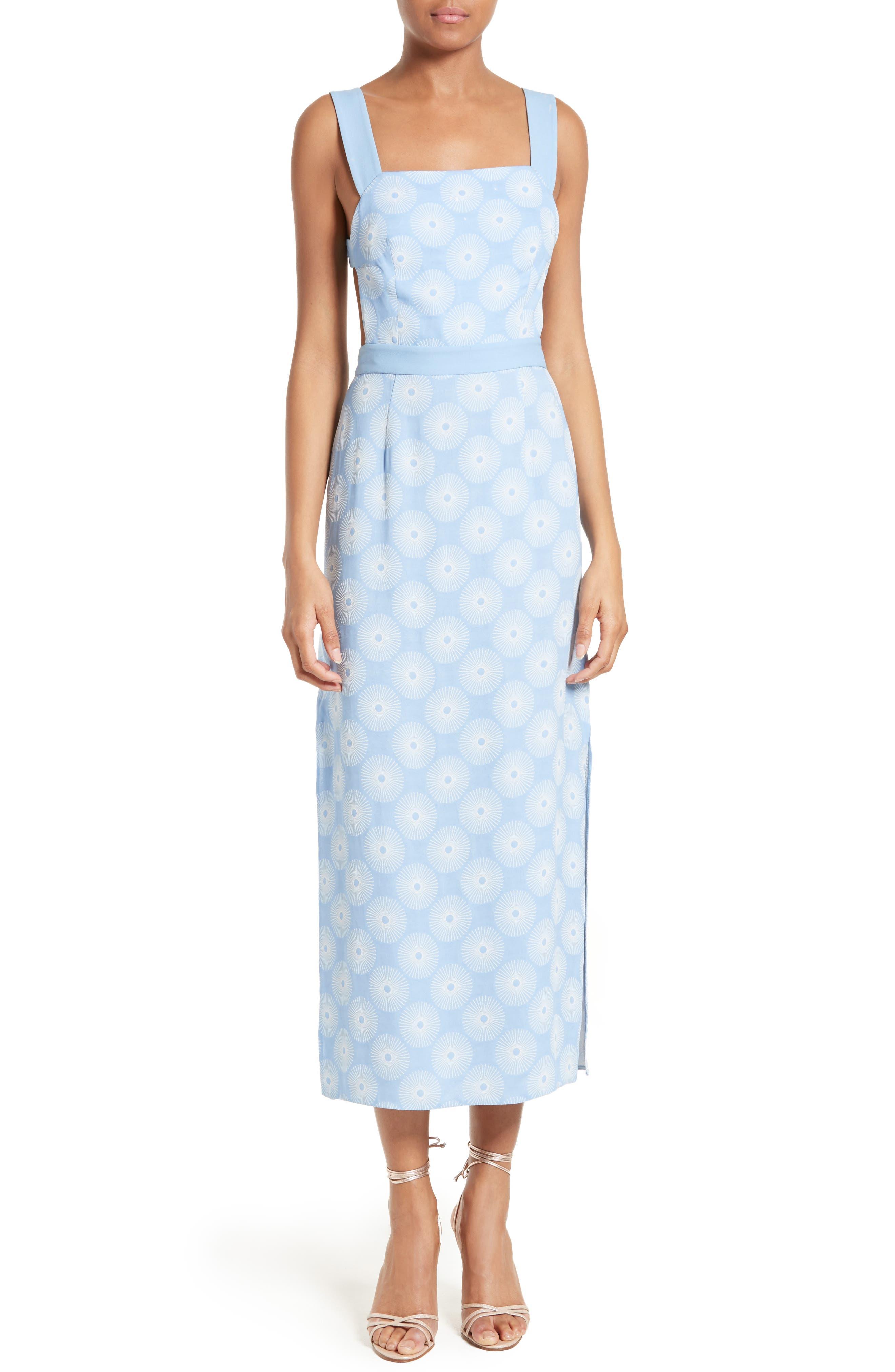 Diane von Furstenberg Backless Midi Dress