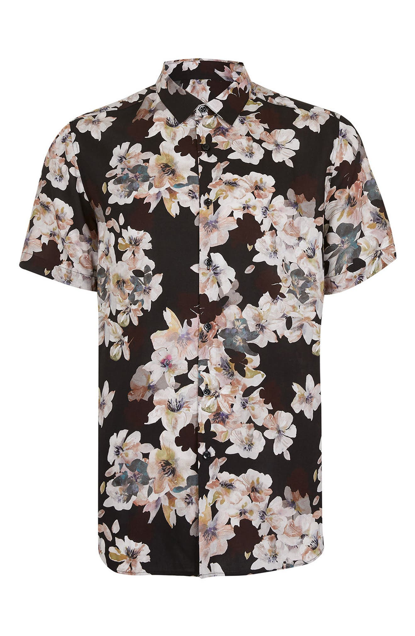 Alternate Image 5  - Topman Floral Print Shirt