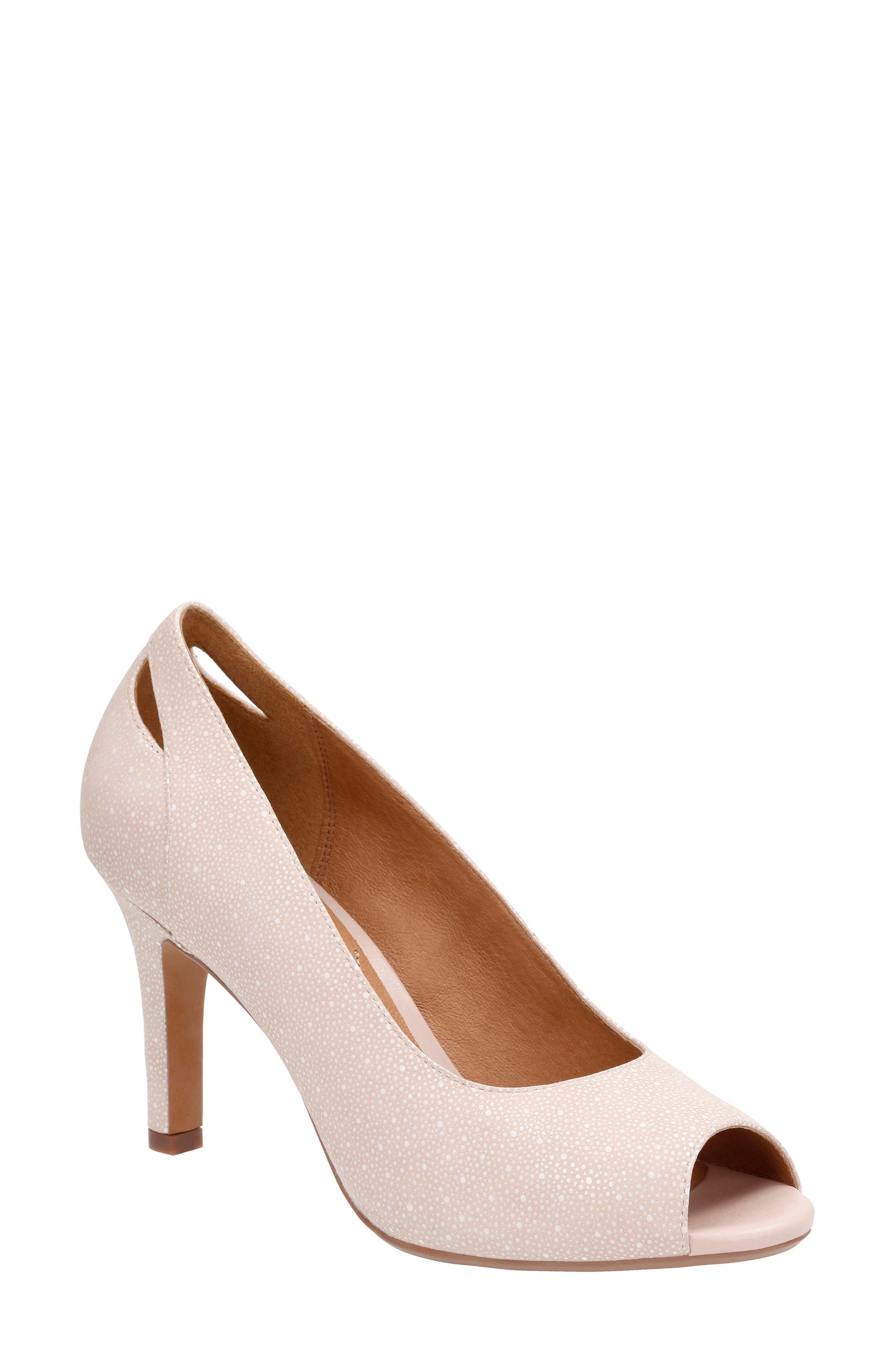 Clarks® Heavenly Maze Peep Toe Pump (Women)