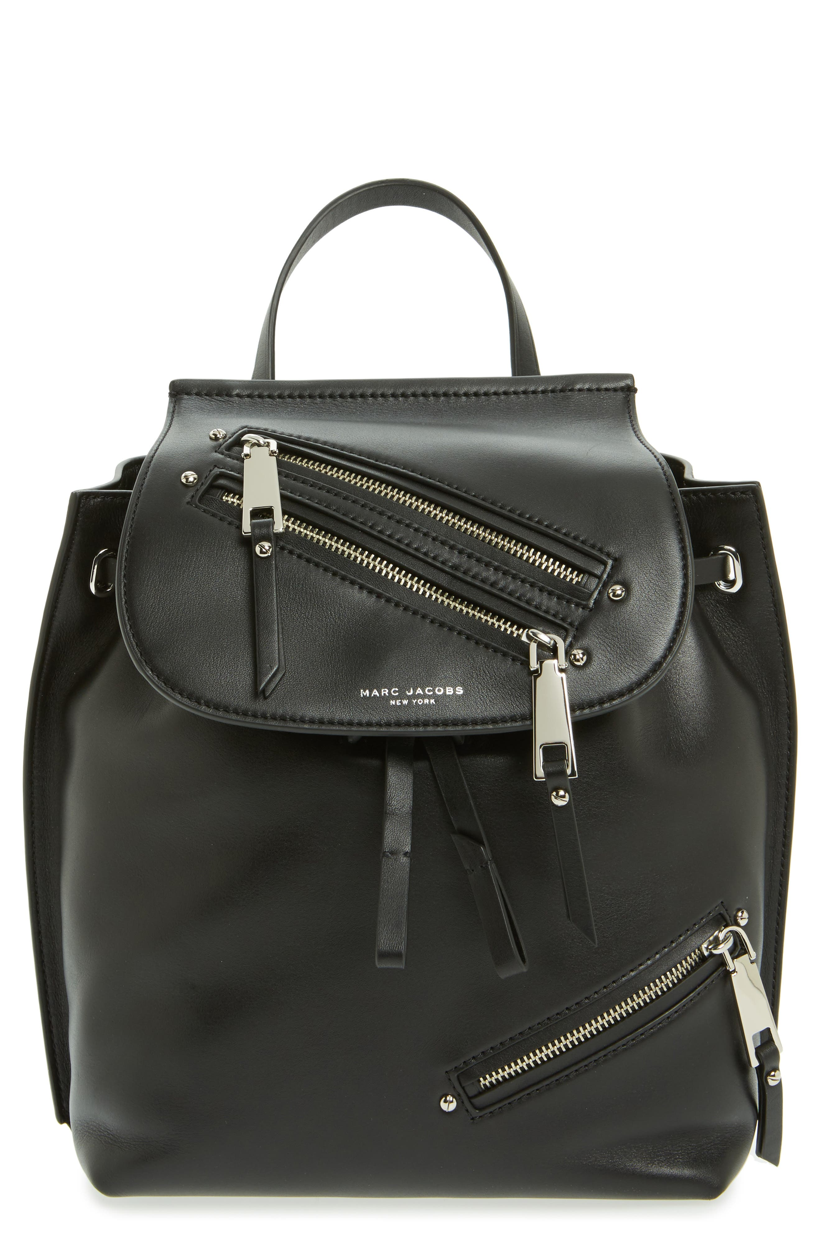 Alternate Image 1 Selected - MARC JACOBS Zip Leather Backpack