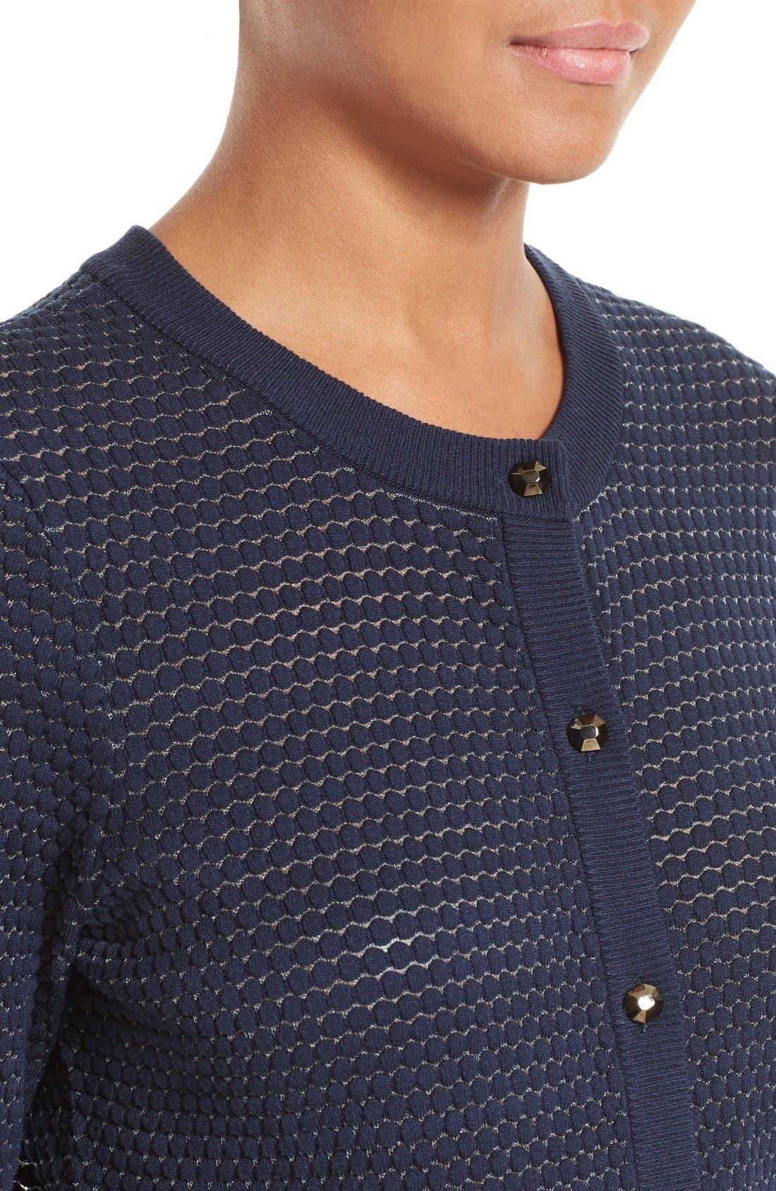 Alternate Image 4  - Milly Hexagon Knit Cardigan