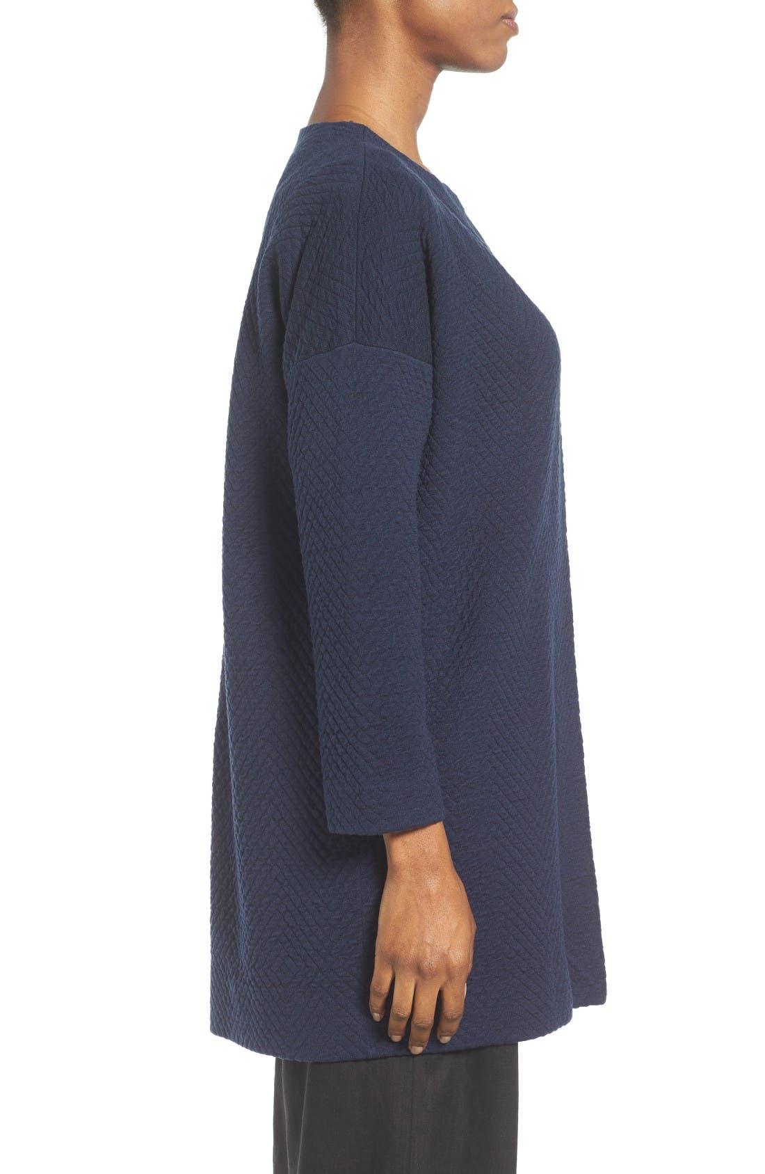 Alternate Image 3  - Eileen Fisher Silk Blend Jacquard Jacket (Regular & Petite)