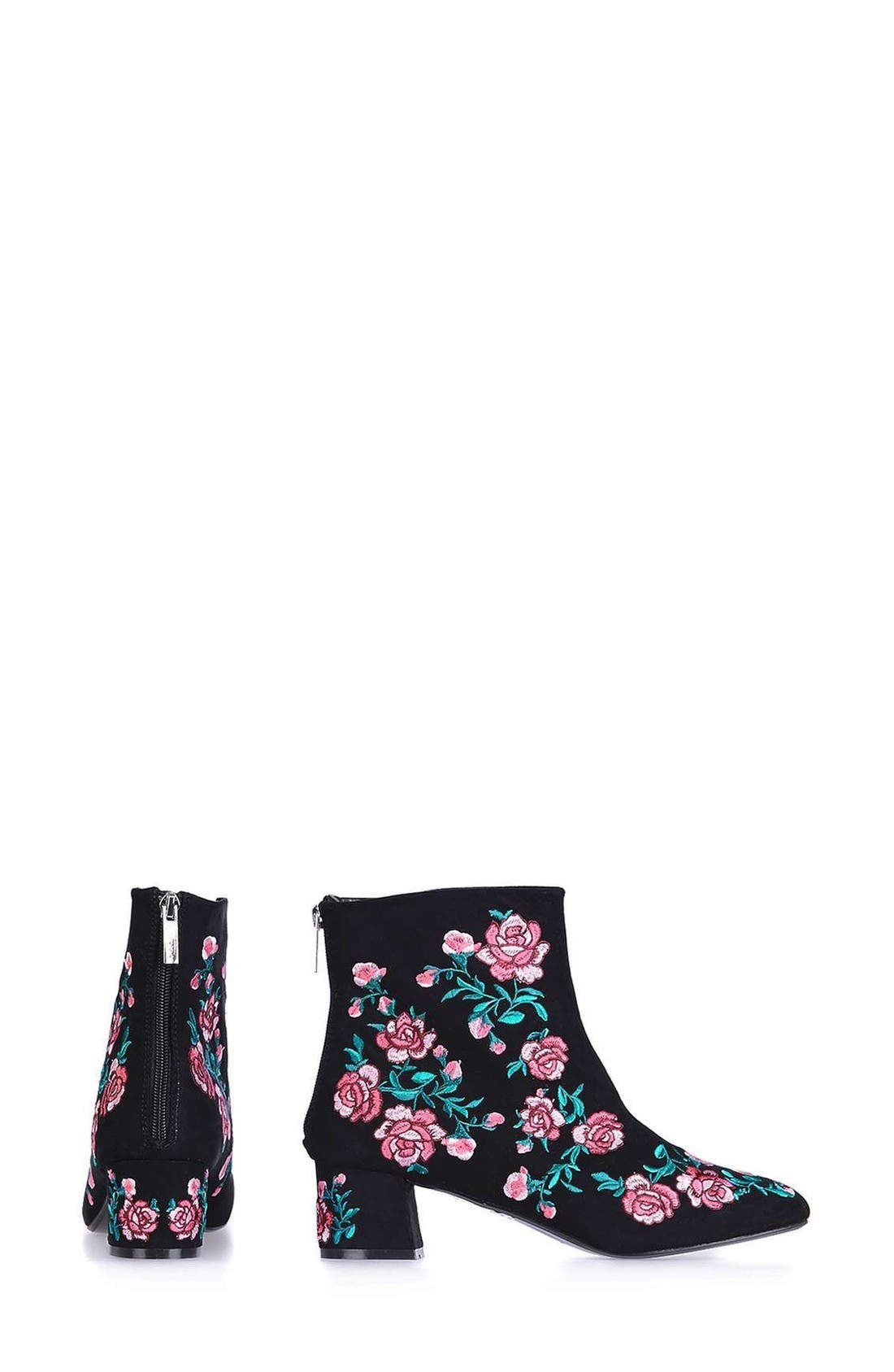 Alternate Image 2  - Topshop Blossom Embroidered Bootie (Women)